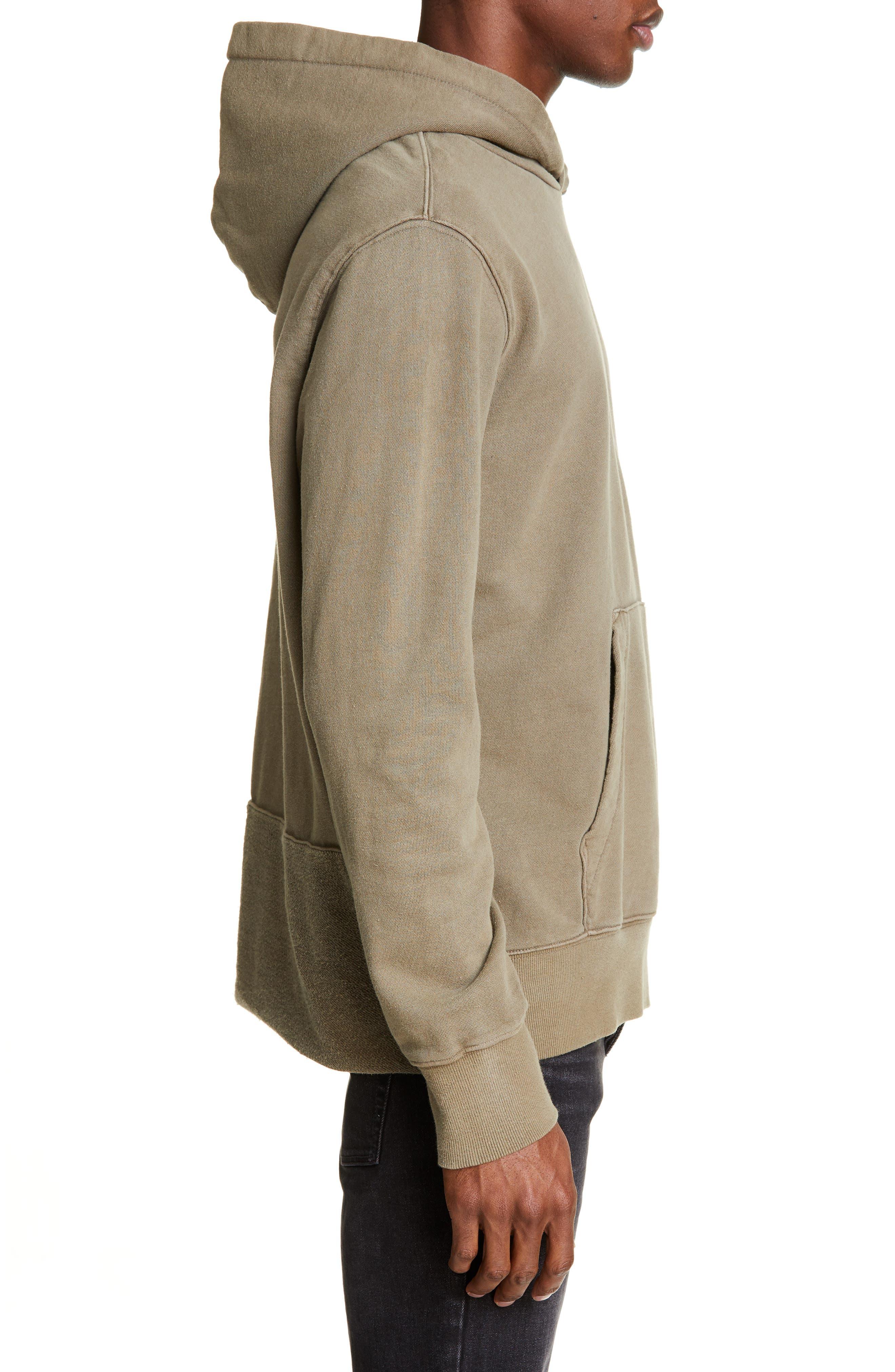 KSUBI, Seeing Lines Hooded Sweatshirt, Alternate thumbnail 3, color, BEIGE