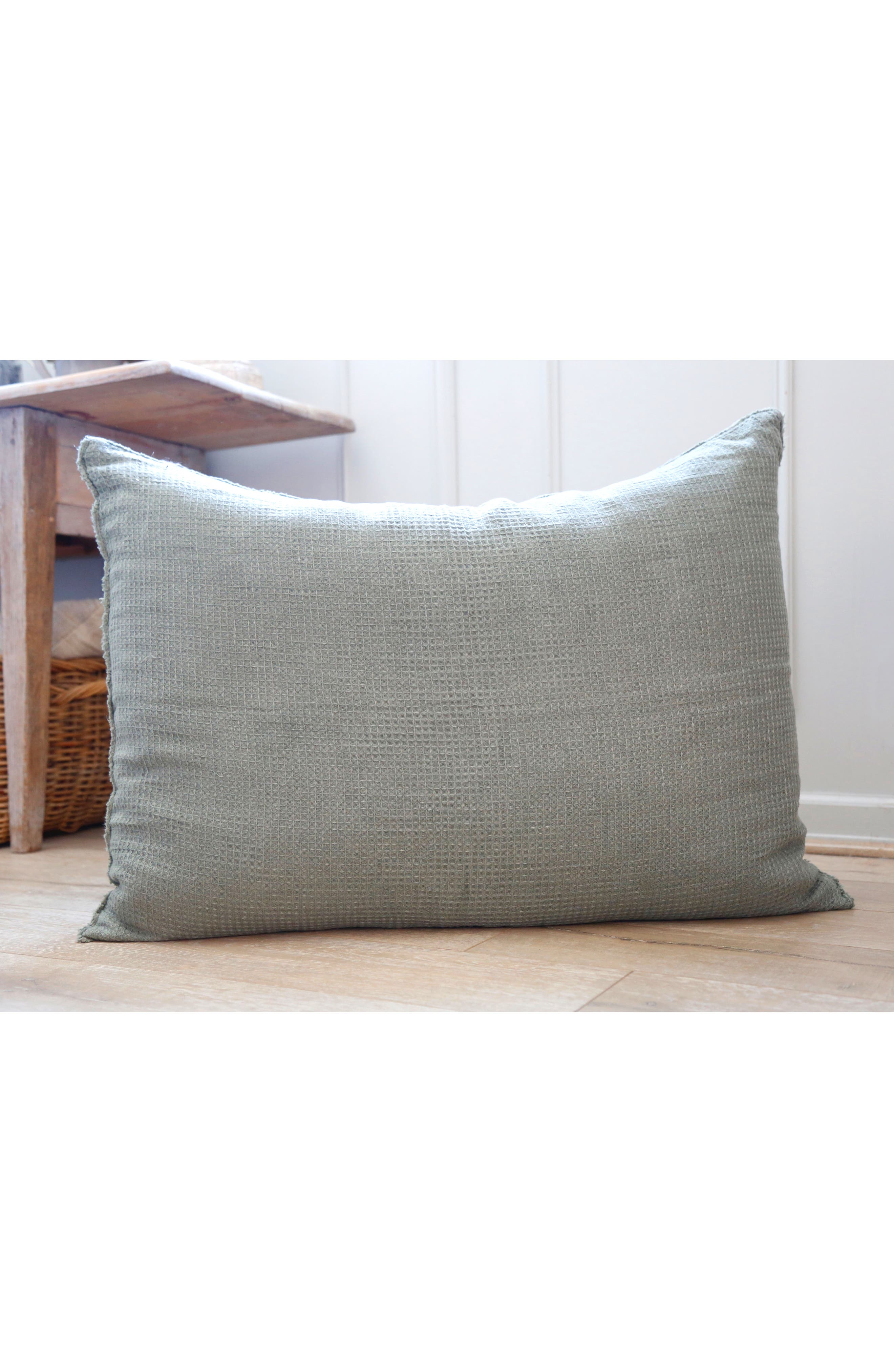 POM POM AT HOME, Venice Accent Pillow, Alternate thumbnail 3, color, MOSS