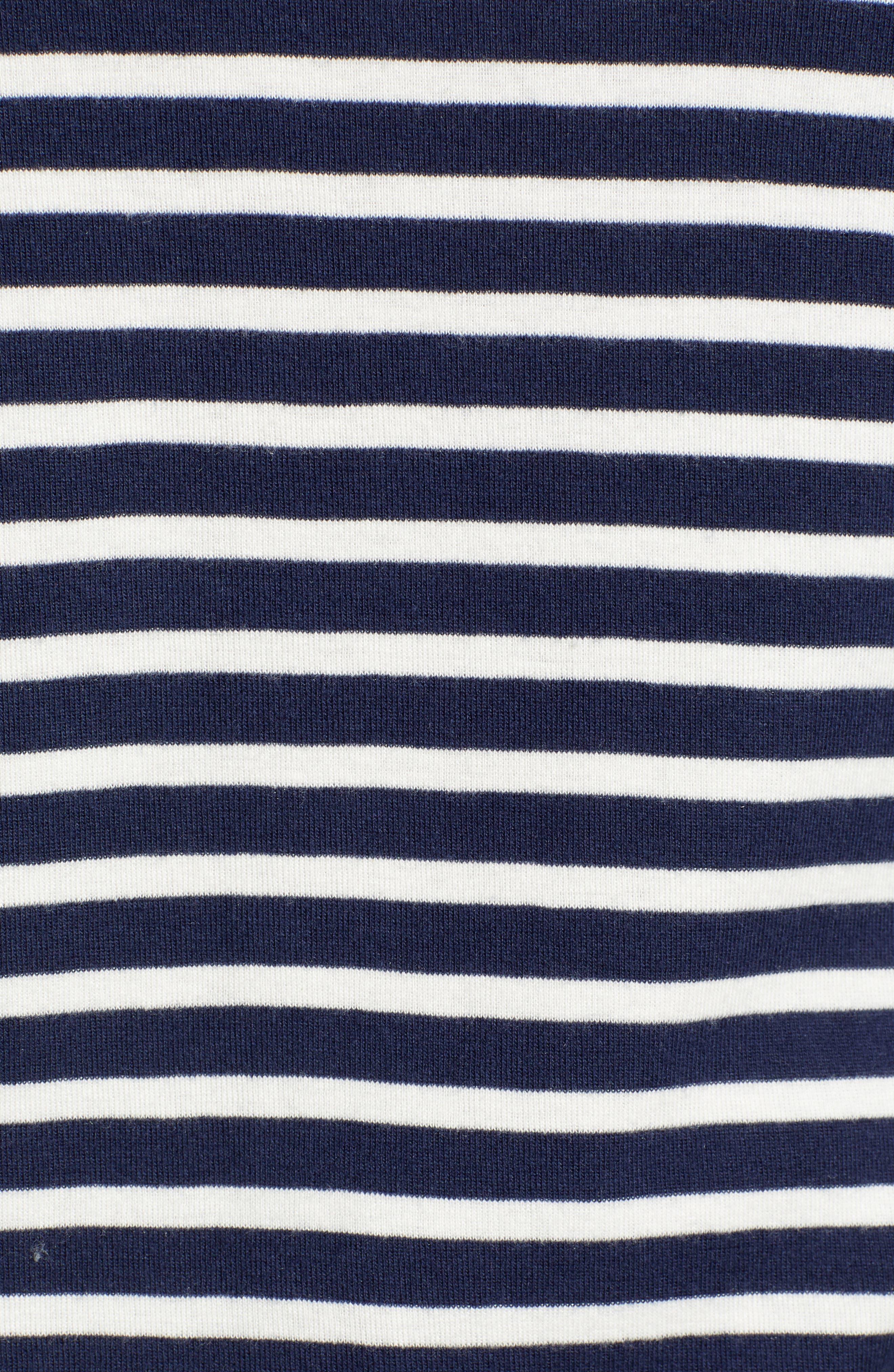 CASLON<SUP>®</SUP>, Sweatshirt, Alternate thumbnail 5, color, NAVY/ IVORY KATINKA STRIPE