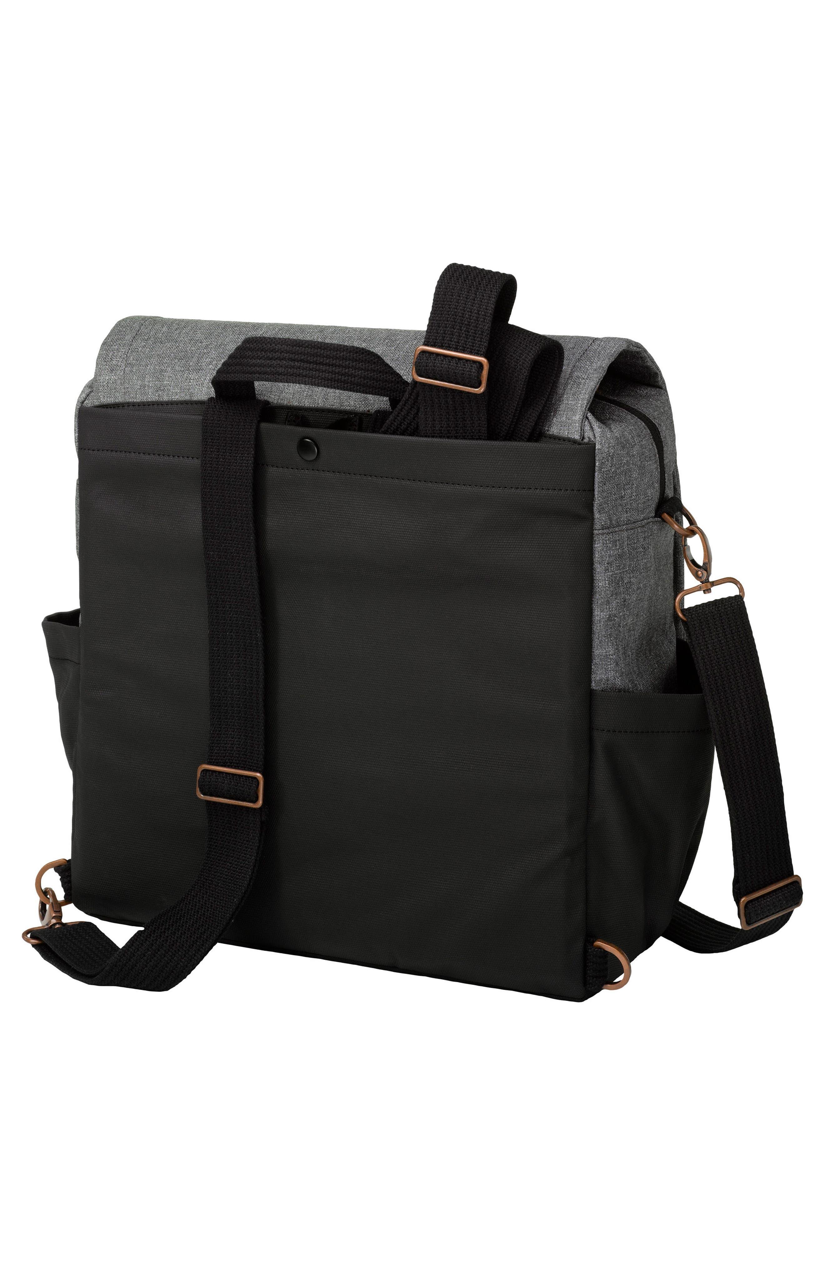 PETUNIA PICKLE BOTTOM, Boxy Backpack Diaper Bag, Alternate thumbnail 2, color, GRAPHITE/ BLACK