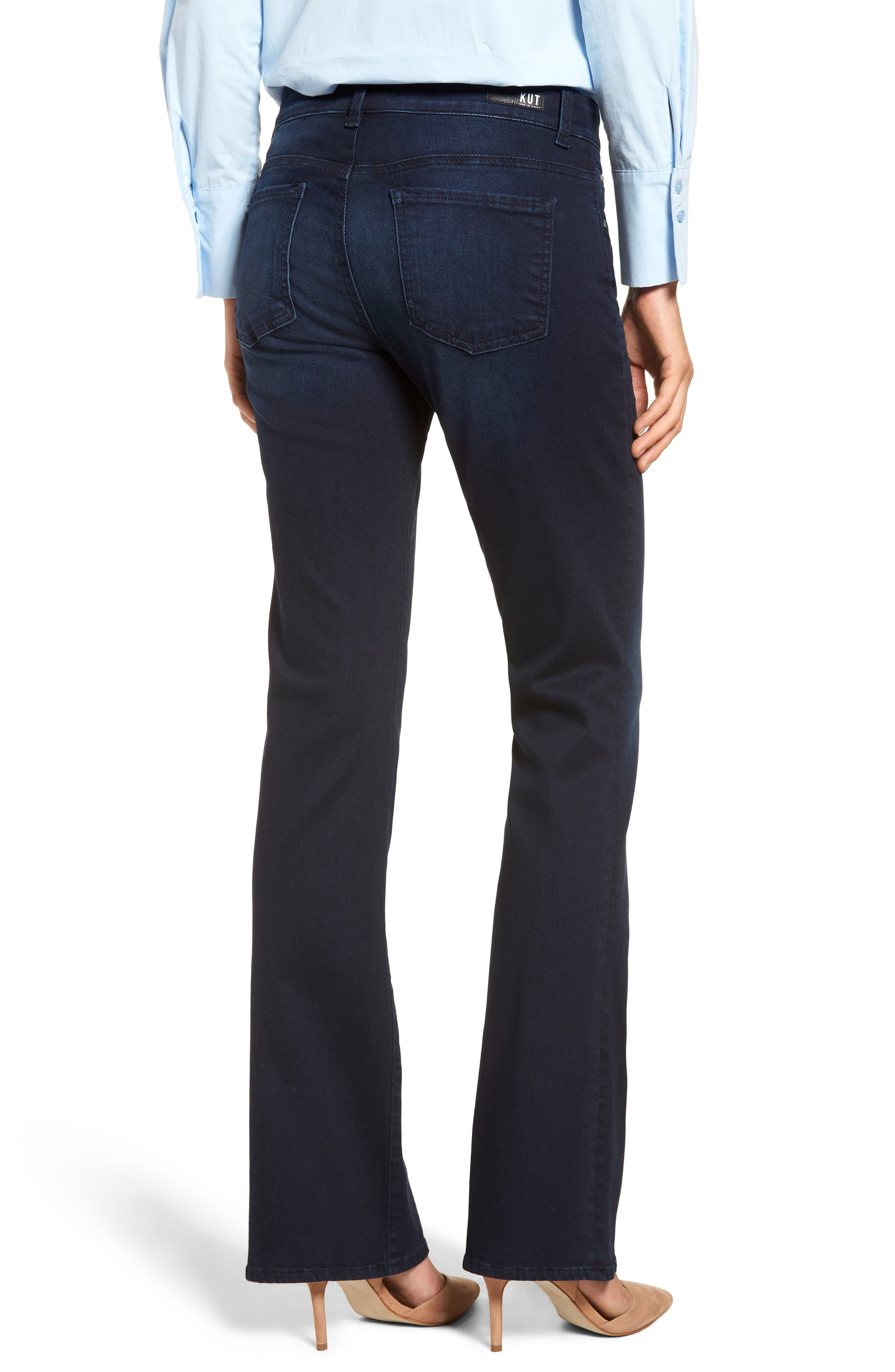 KUT FROM THE KLOTH, Natalie Stretch Bootleg Jeans, Alternate thumbnail 2, color, LIBERATING