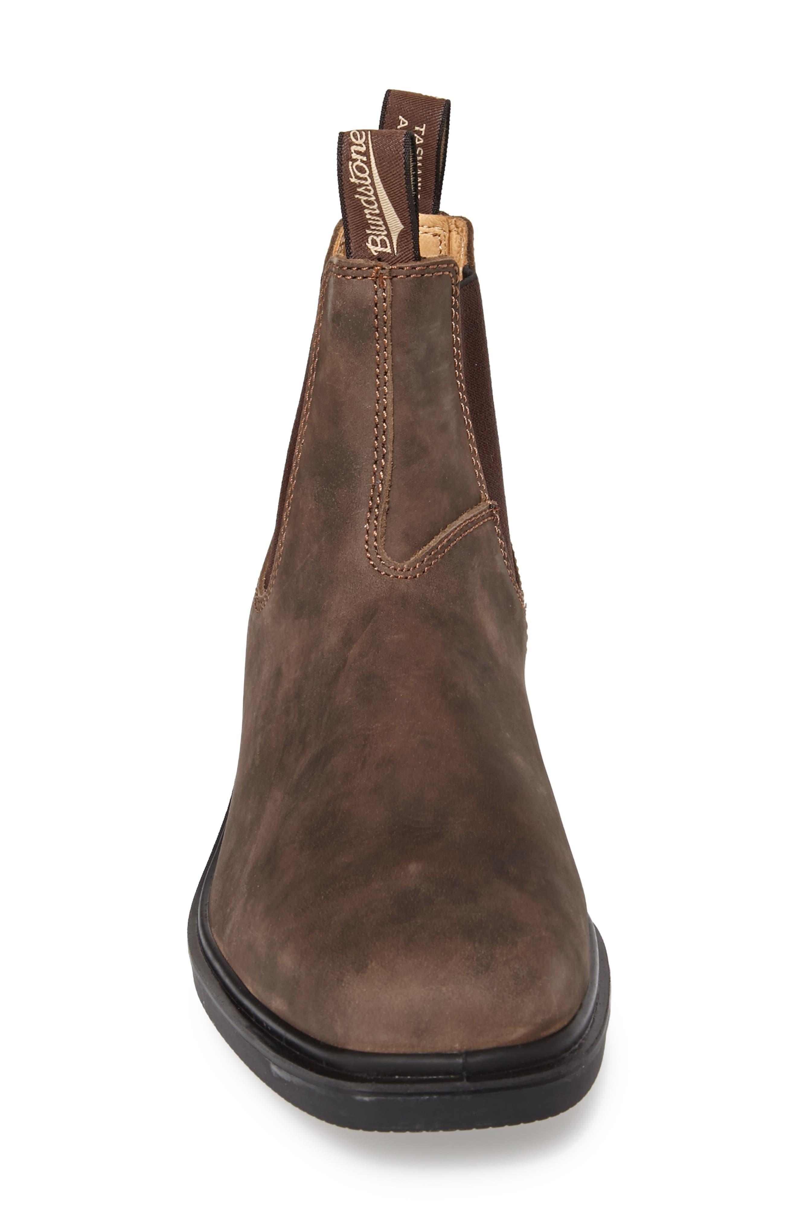 BLUNDSTONE FOOTWEAR, Chelsea Boot, Alternate thumbnail 5, color, RUSTIC BROWN