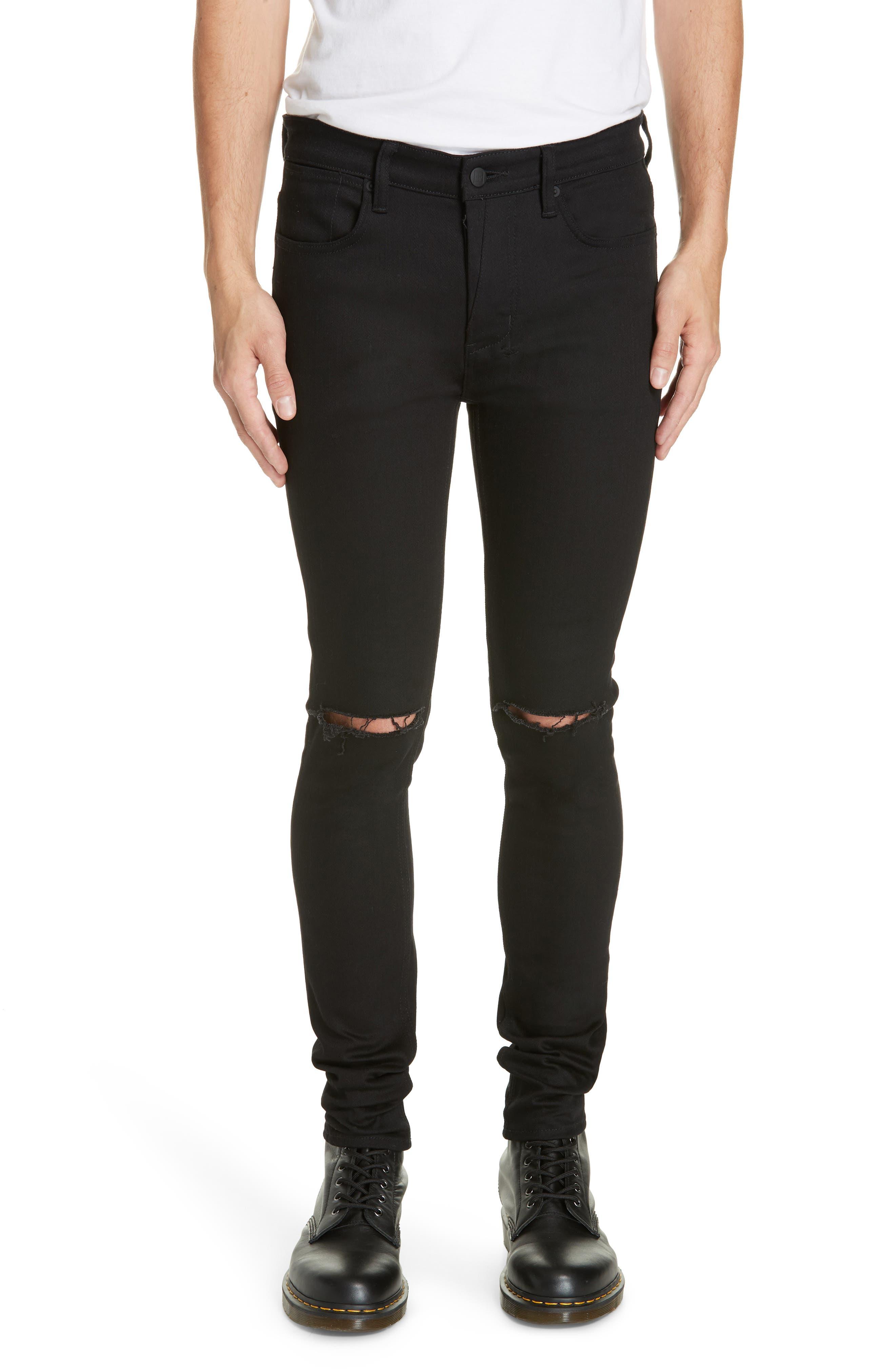 KSUBI Van Winkle Ace Slice Jeans, Main, color, BLACK