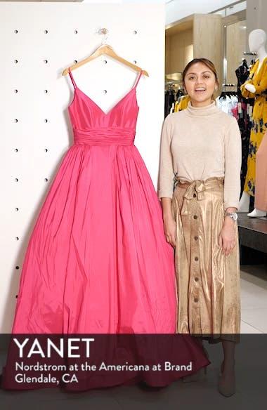 V-Neck Satin Evening Dress, sales video thumbnail