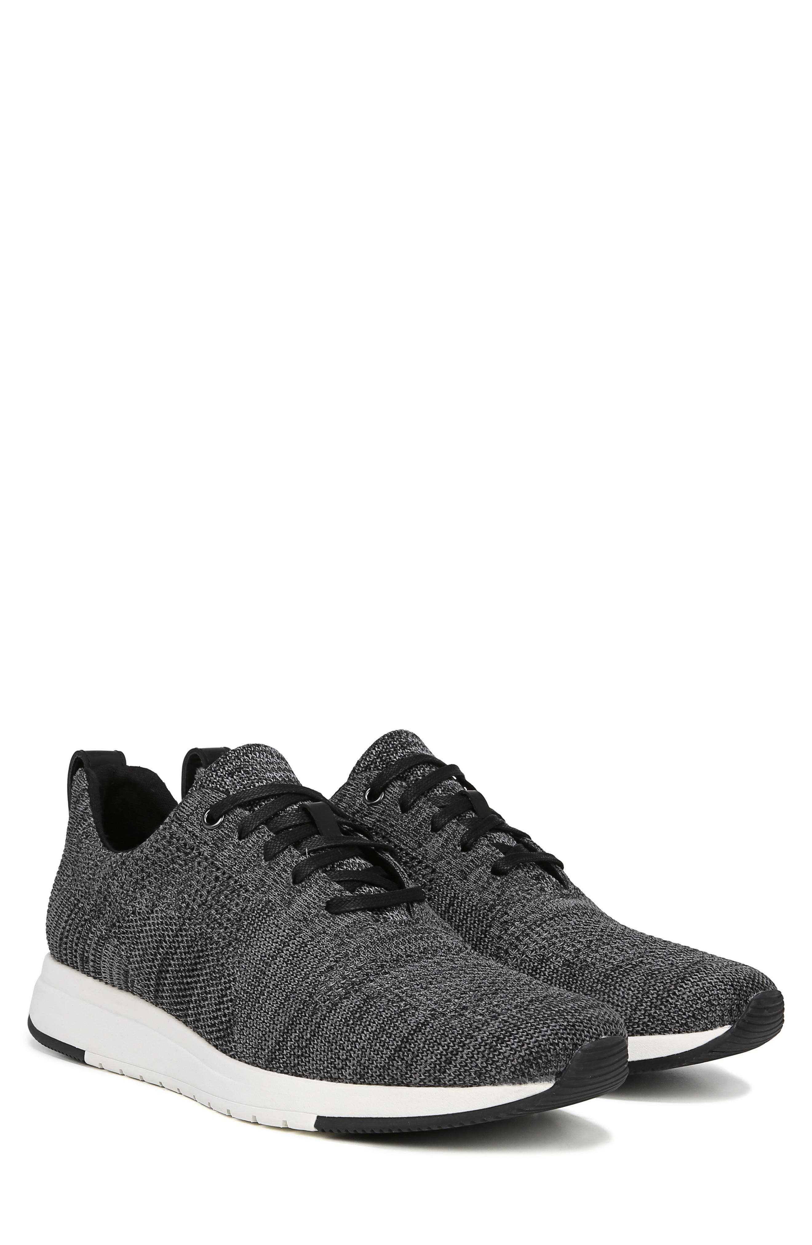 VINCE, Palo Knit Sneaker, Alternate thumbnail 9, color, MARL GREY/ BLACK