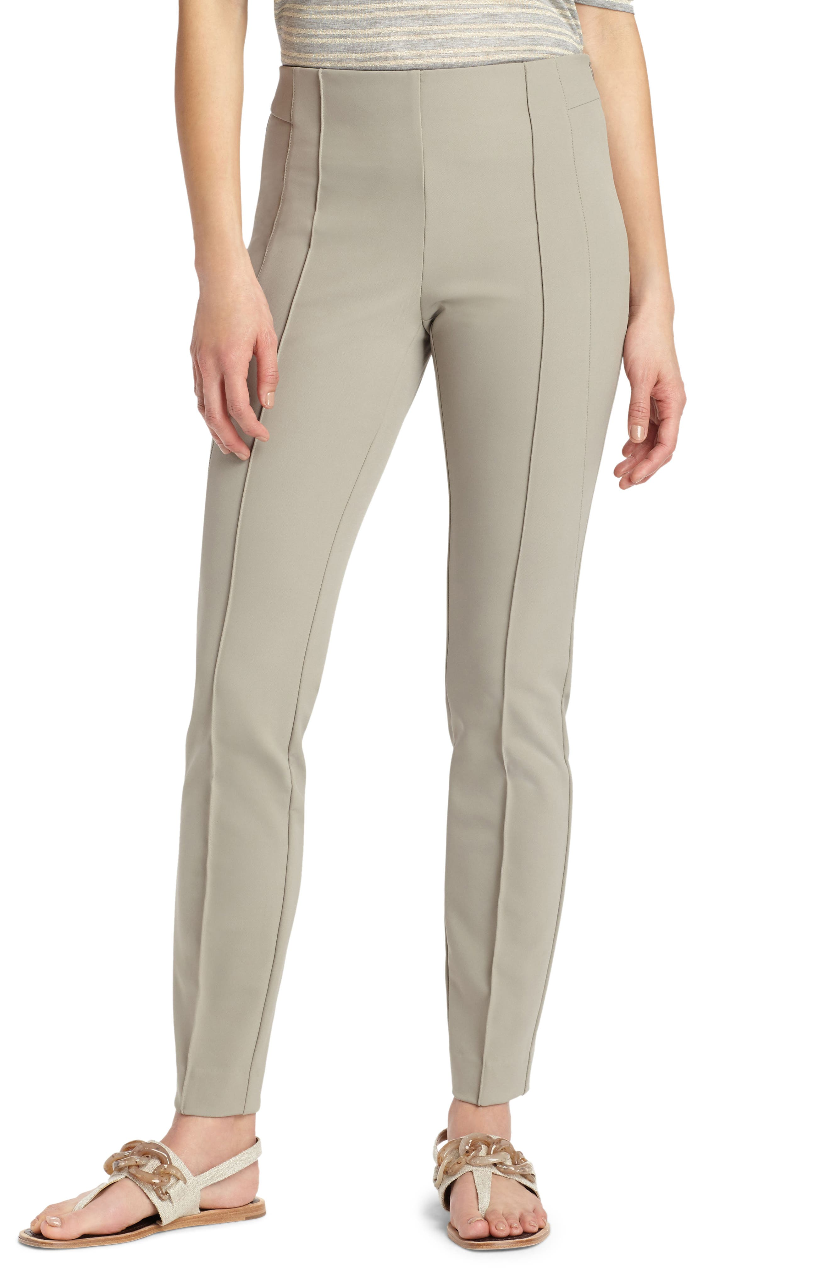 LAFAYETTE 148 NEW YORK, 'Gramercy' Acclaimed Stretch Pants, Main thumbnail 1, color, PARTRIDGE