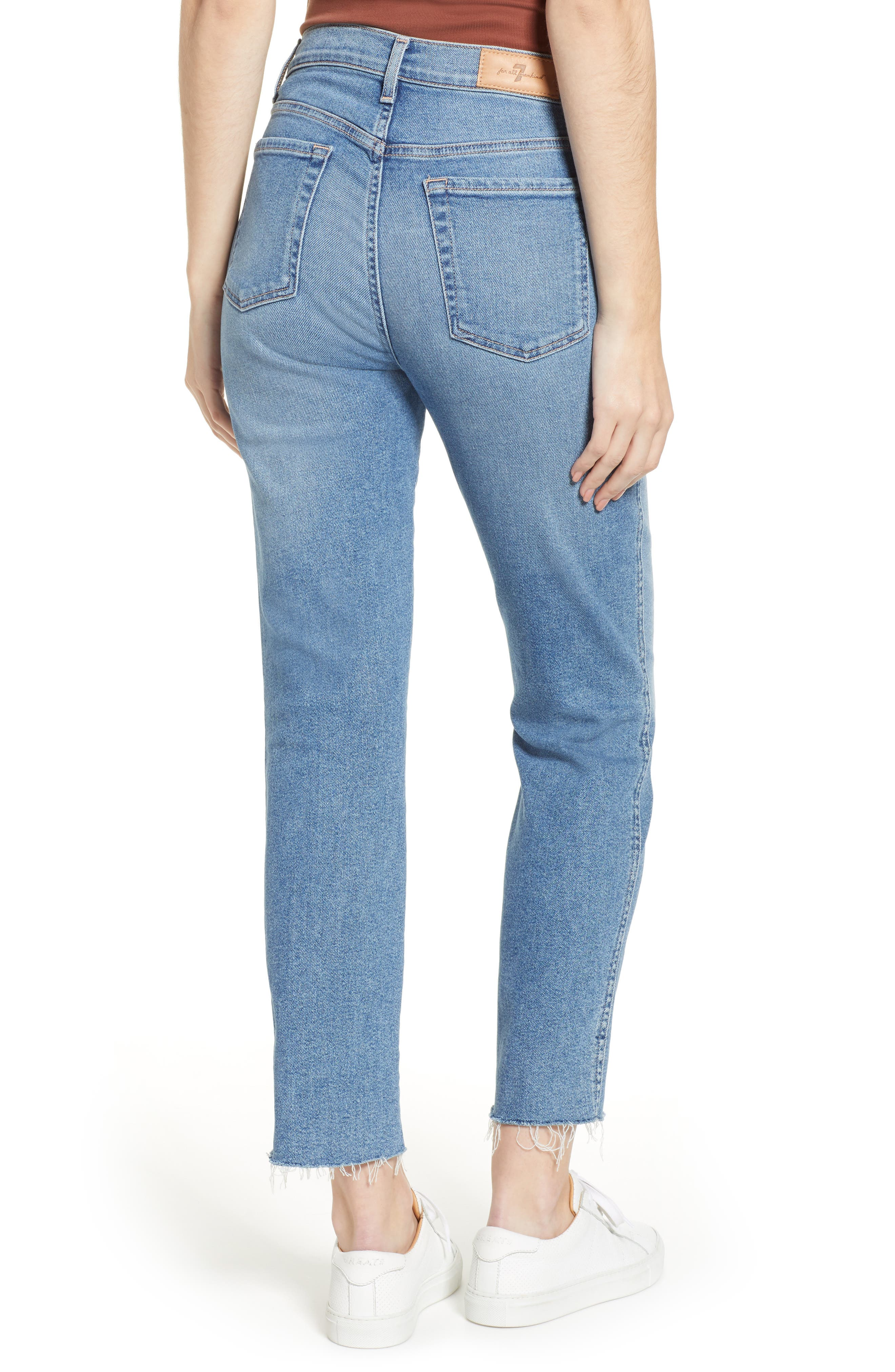 7 FOR ALL MANKIND<SUP>®</SUP>, Edie High Waist Crop Jeans, Alternate thumbnail 2, color, LUXE VINTAGE FLORA