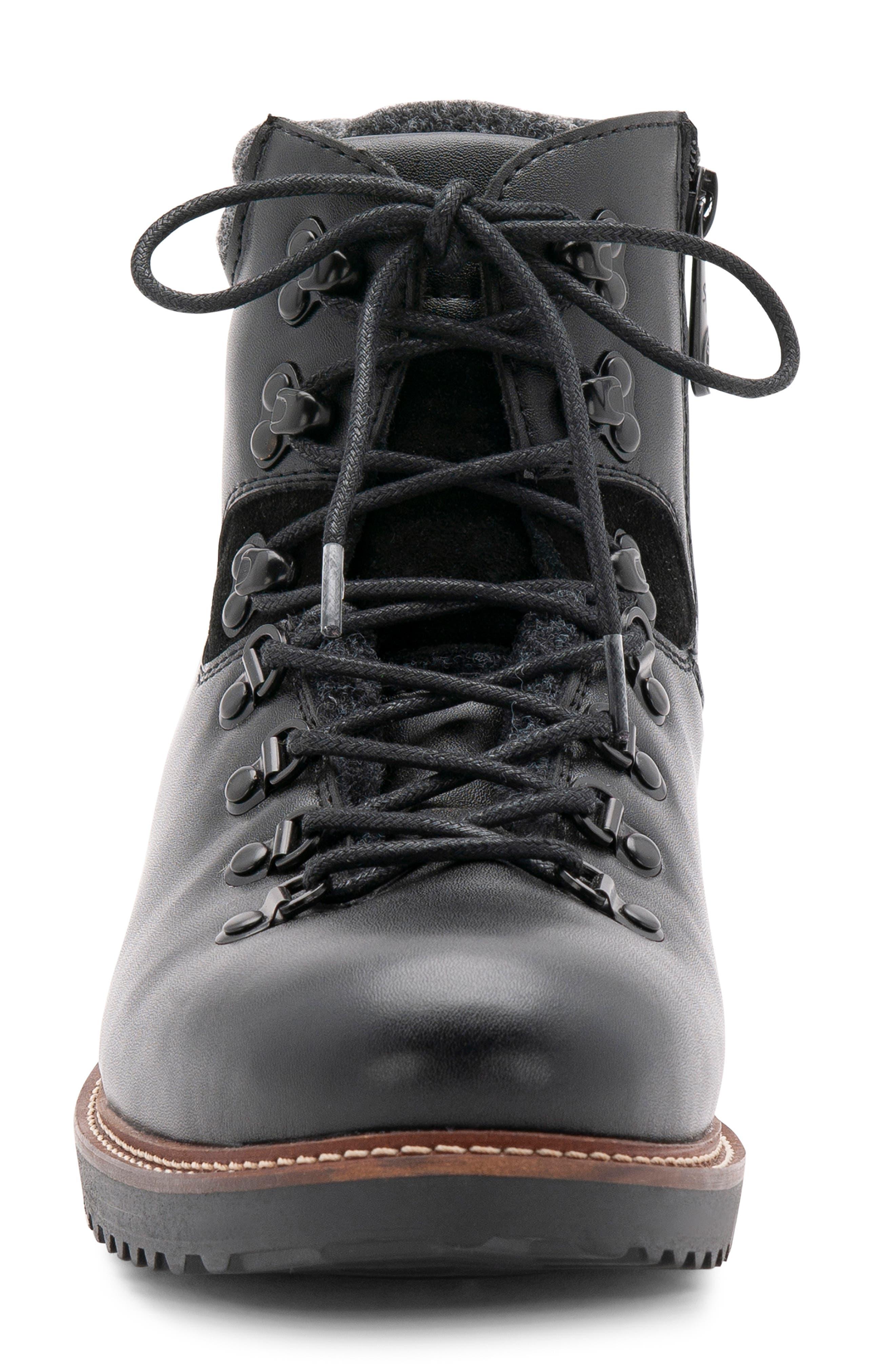 BLONDO, Morgan Waterproof Plain Toe Boot, Alternate thumbnail 4, color, BLACK LEATHER