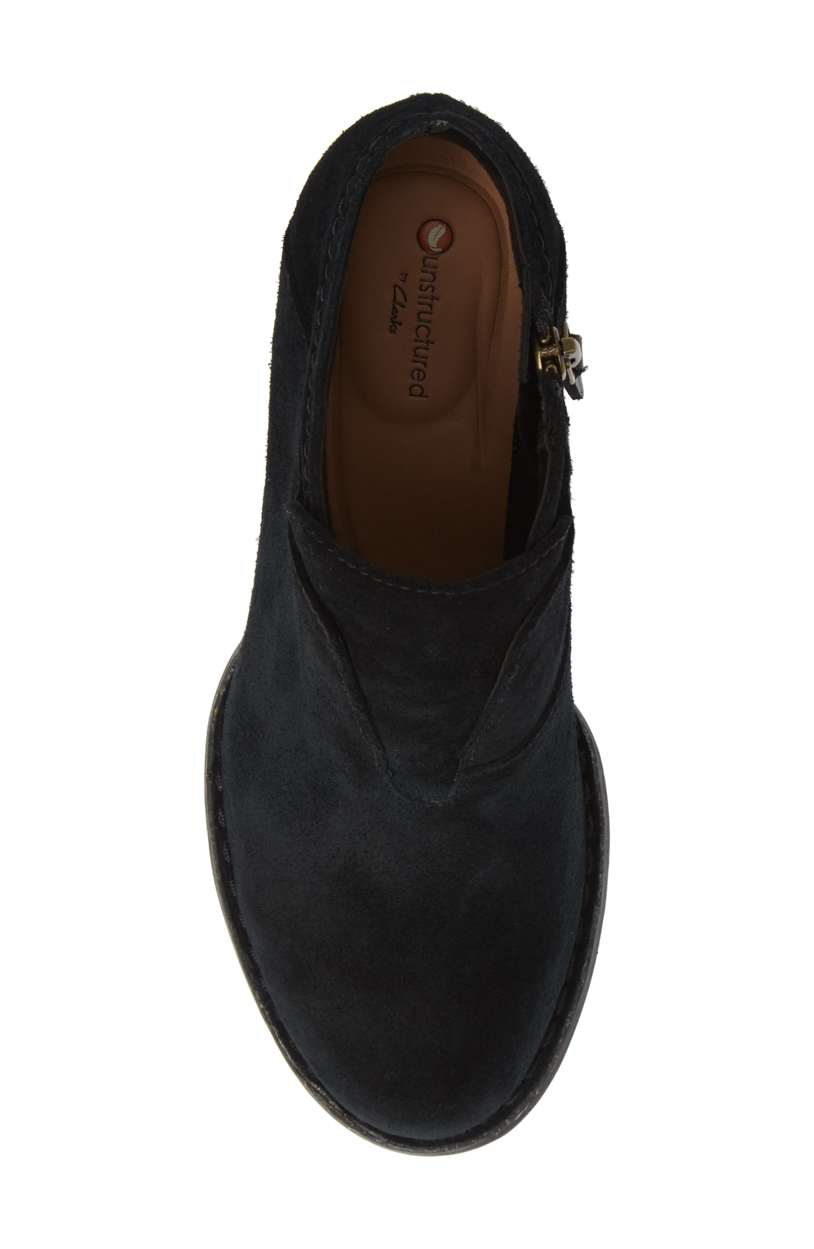 CLARKS<SUP>®</SUP>, Carleta York Bootie, Alternate thumbnail 5, color, BLACK SUEDE