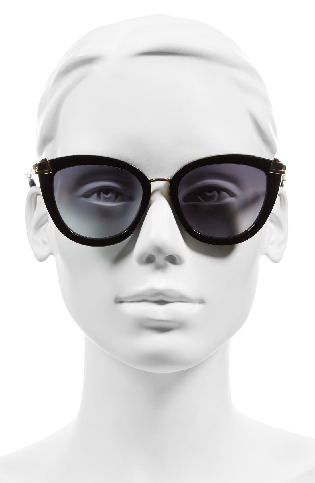 SONIX, Melrose 51mm Gradient Cat Eye Sunglasses, Alternate thumbnail 2, color, 001