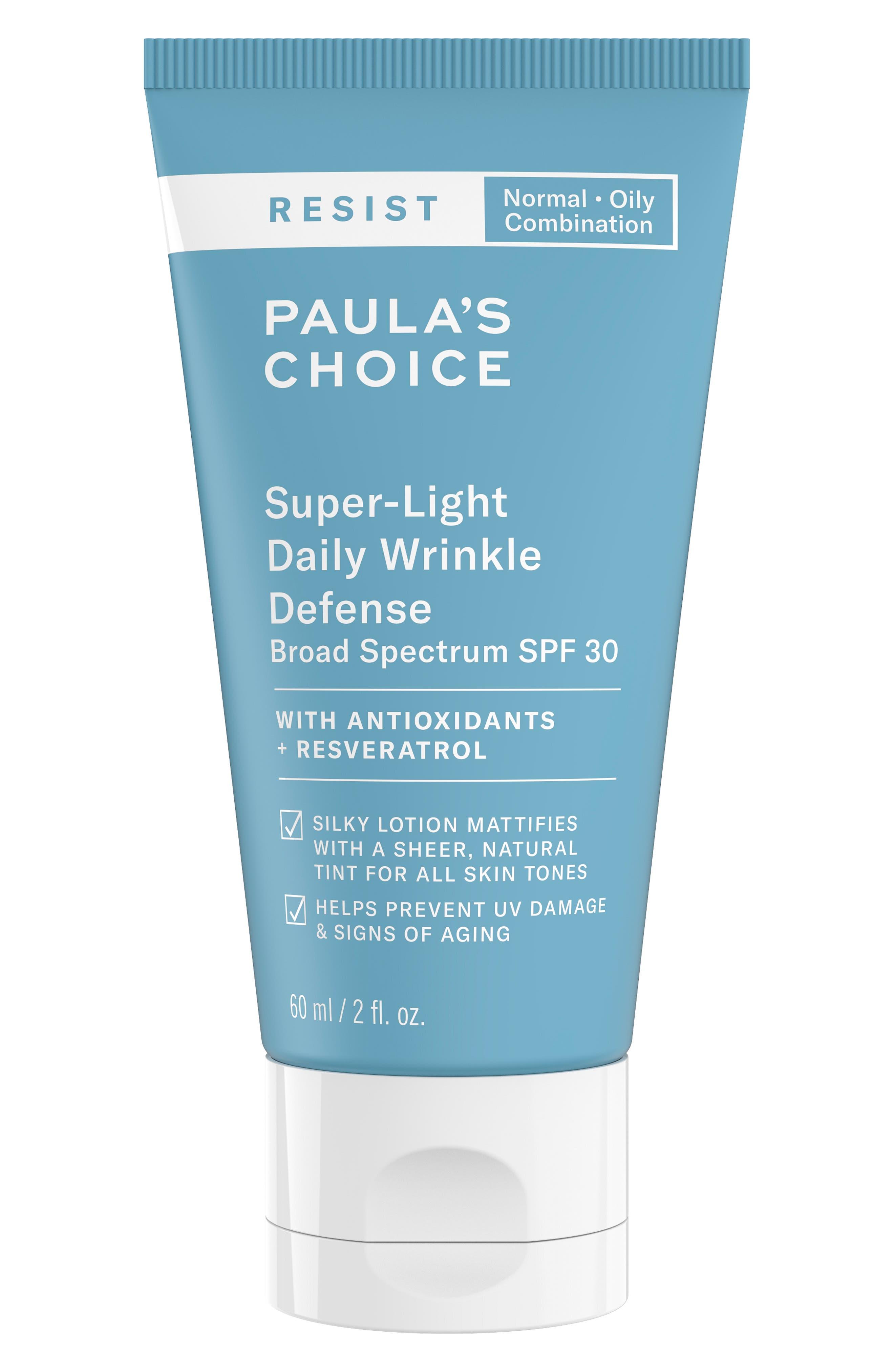 PAULA'S CHOICE Resist Super Light Wrinkle Defense SPF 30, Main, color, NO COLOR