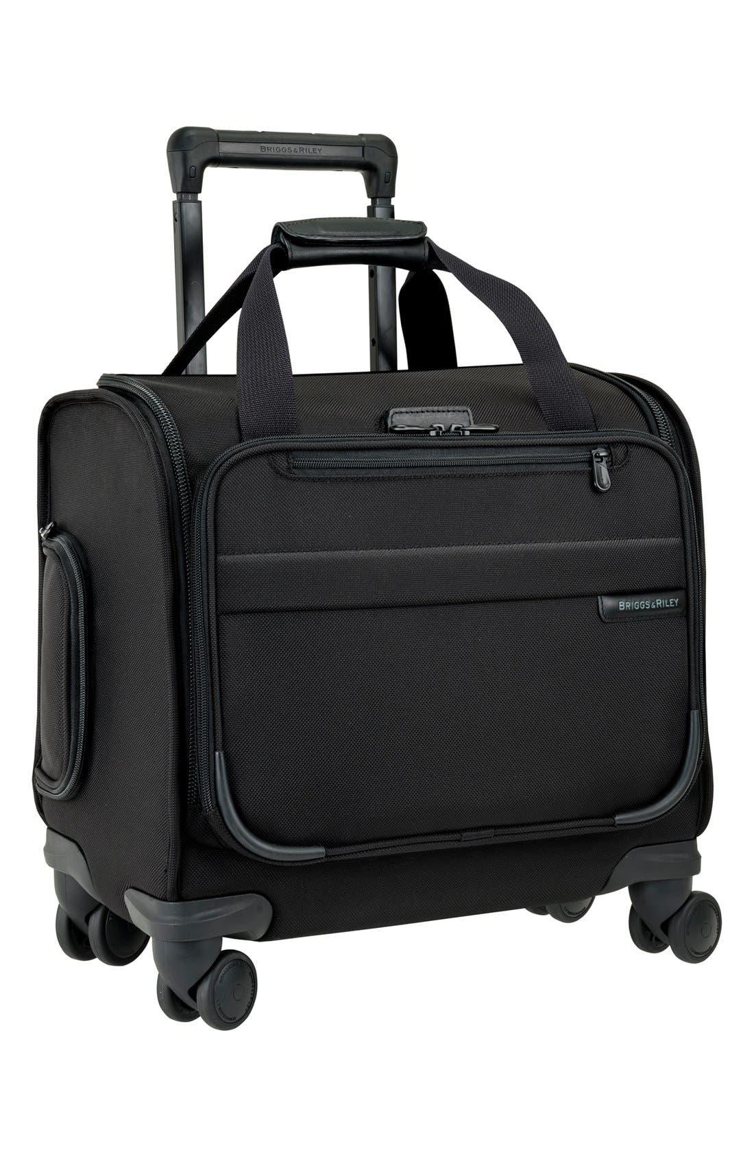 BRIGGS & RILEY 'Cabin' Spinner Carry-On, Main, color, BLACK