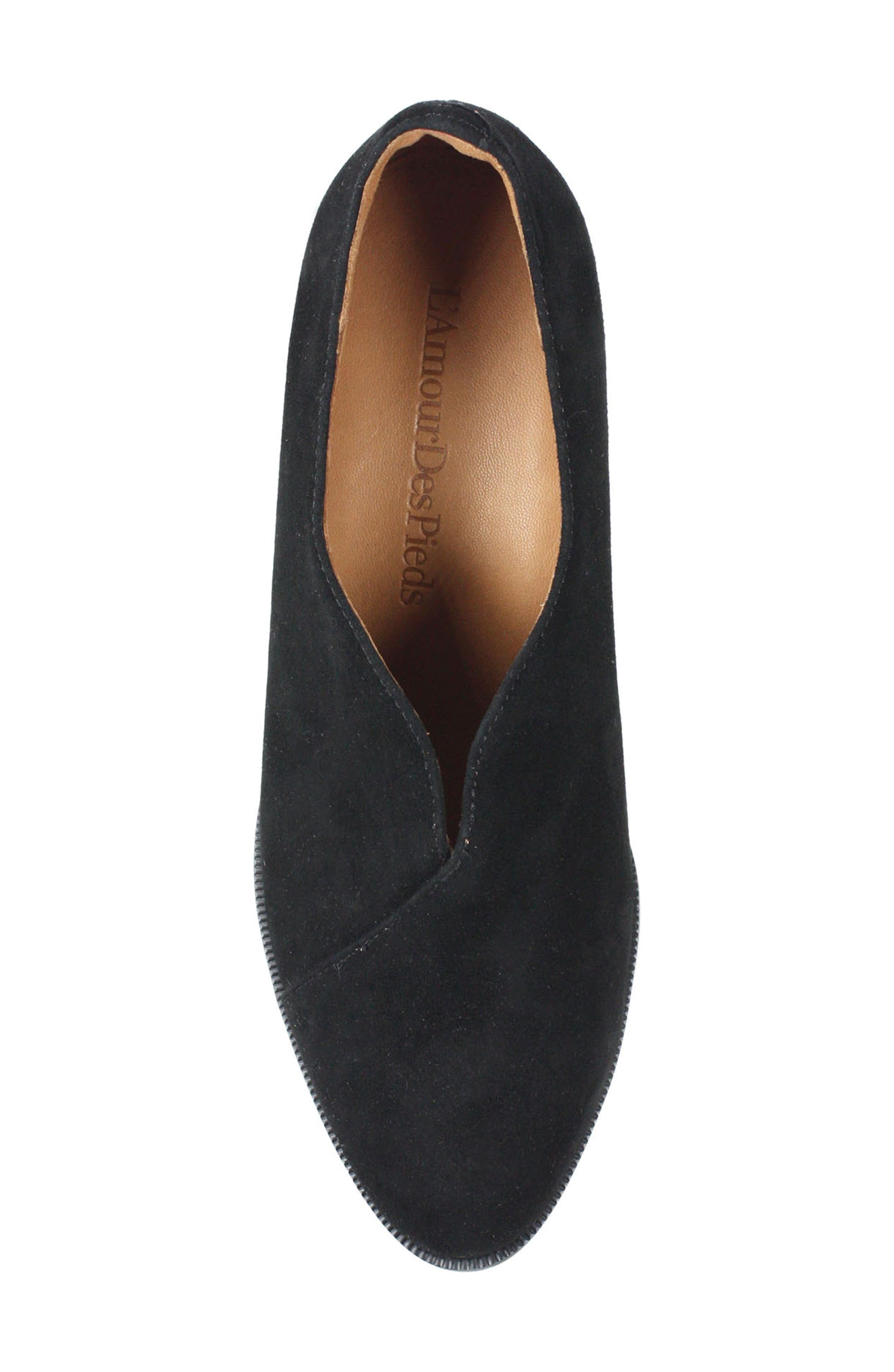 L'AMOUR DES PIEDS, Jessica Bootie, Alternate thumbnail 5, color, BLACK SUEDE