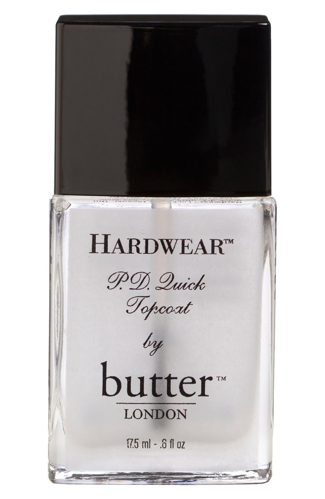 BUTTER LONDON 'Hardwear<sup>™</sup> P.D. Quick' Topcoat, Main, color, 000
