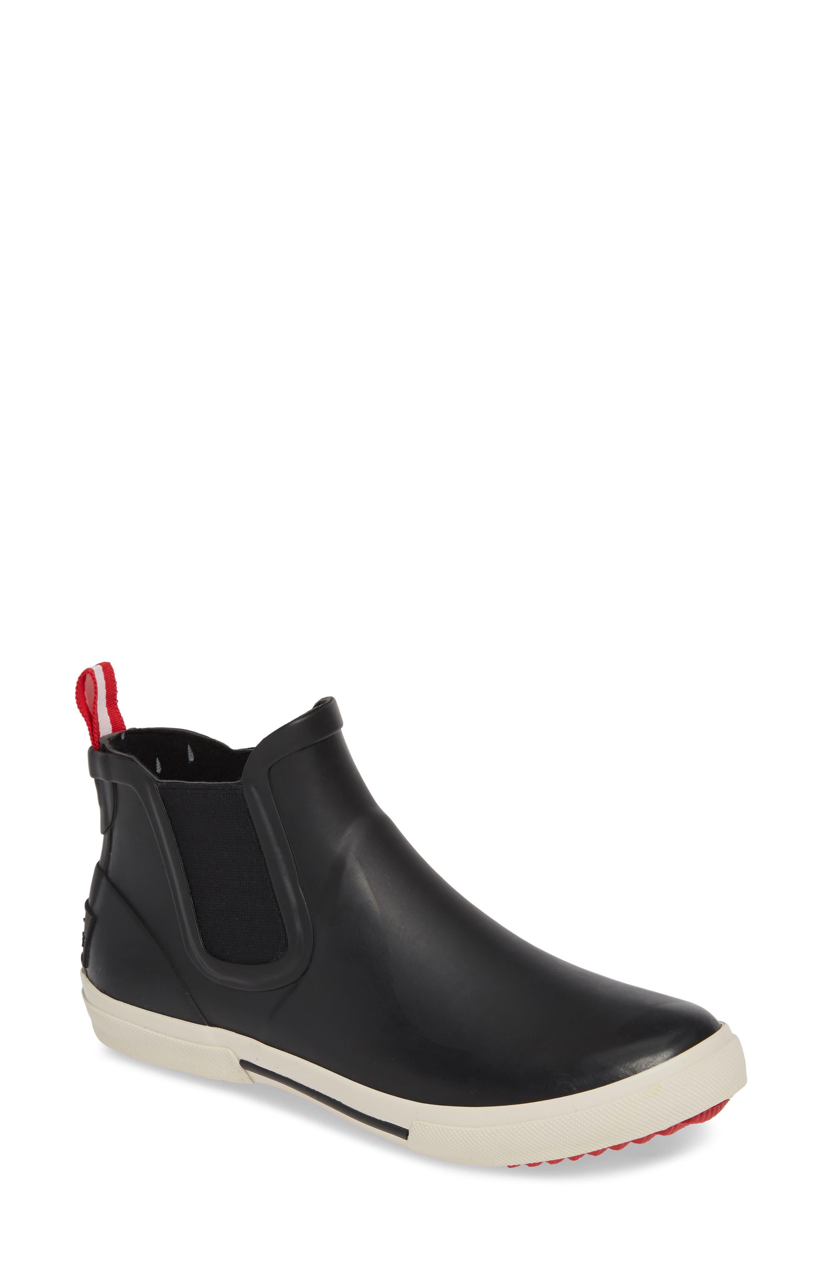JOULES, Rainwell Waterproof Chelsea Rain Boot, Main thumbnail 1, color, BLACK