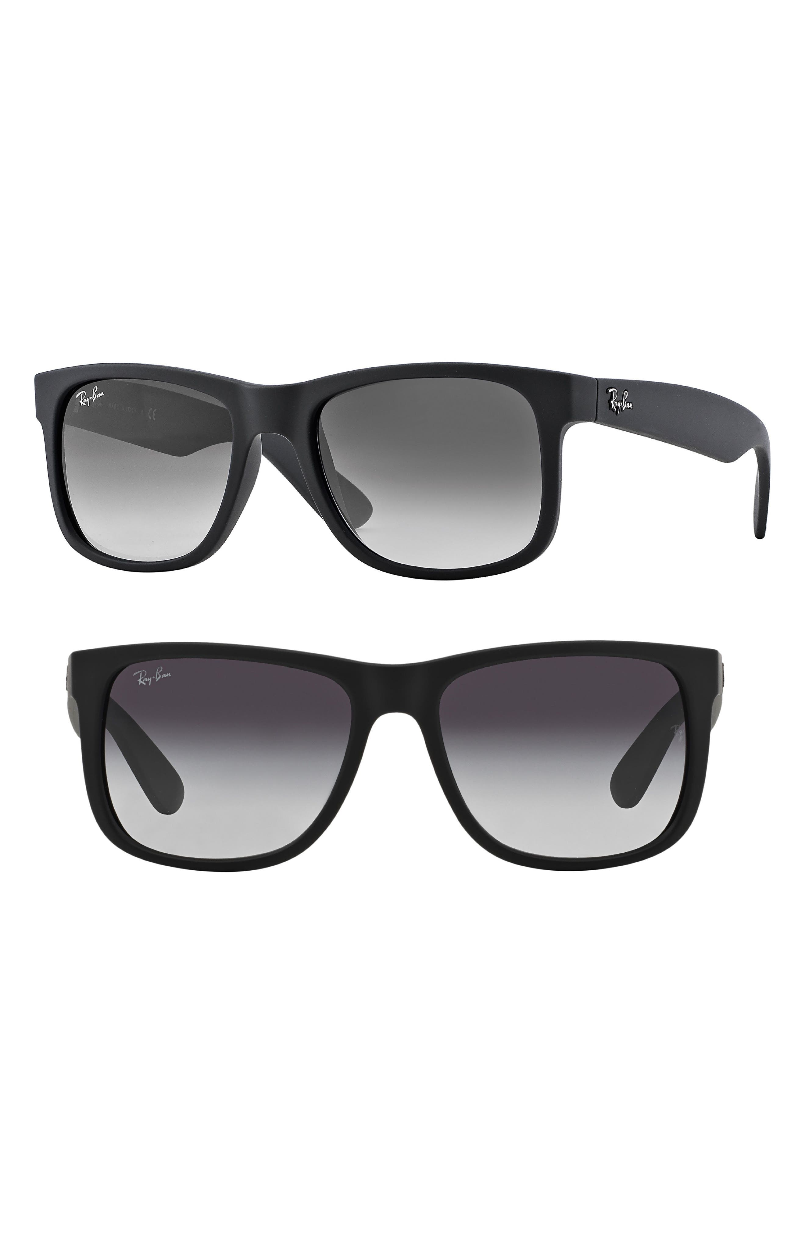 RAY-BAN Youngster 54mm Sunglasses, Main, color, BLACK