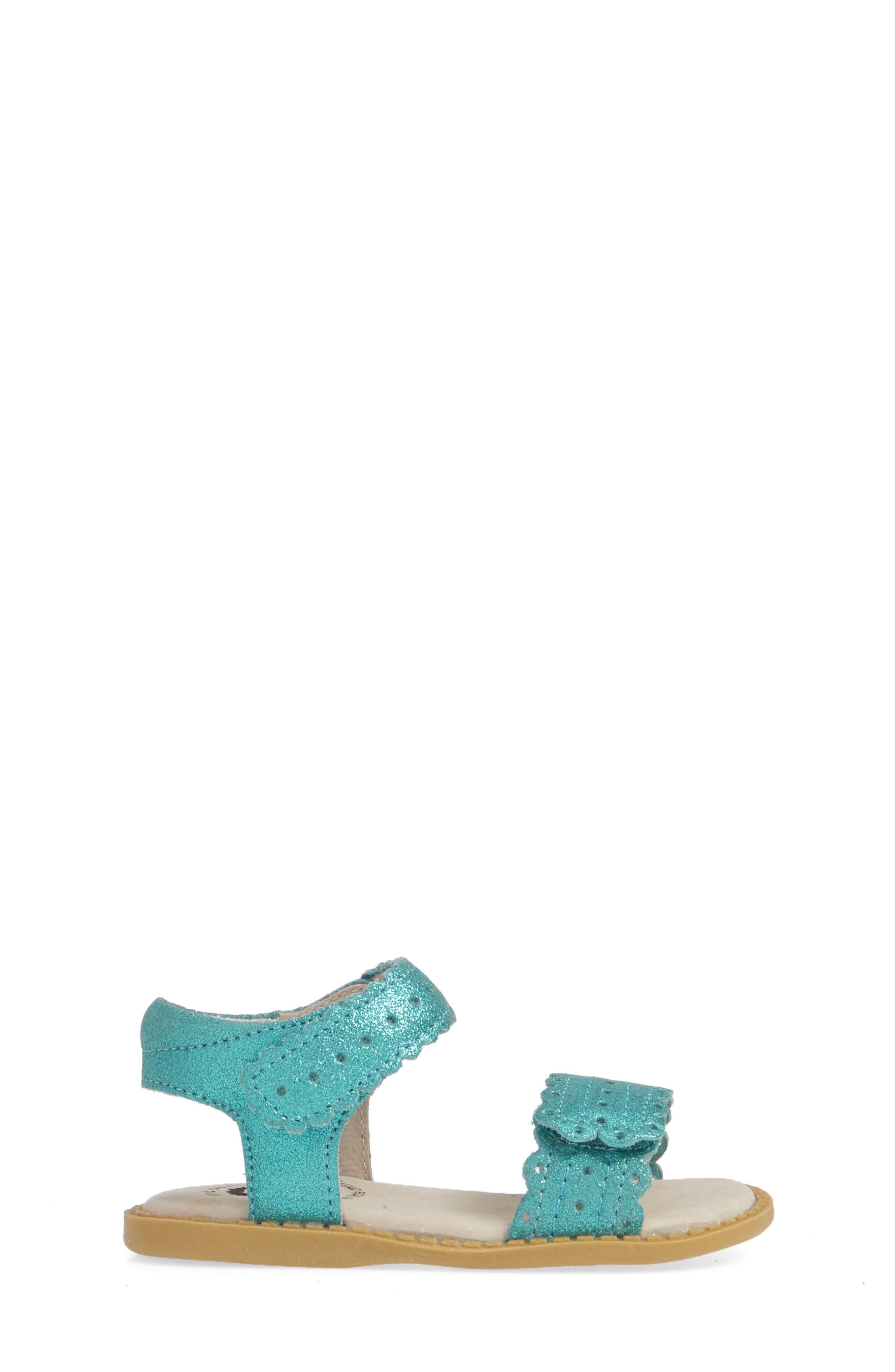 LIVIE & LUCA, Posey Sandal, Alternate thumbnail 3, color, AQUA SHIMMER