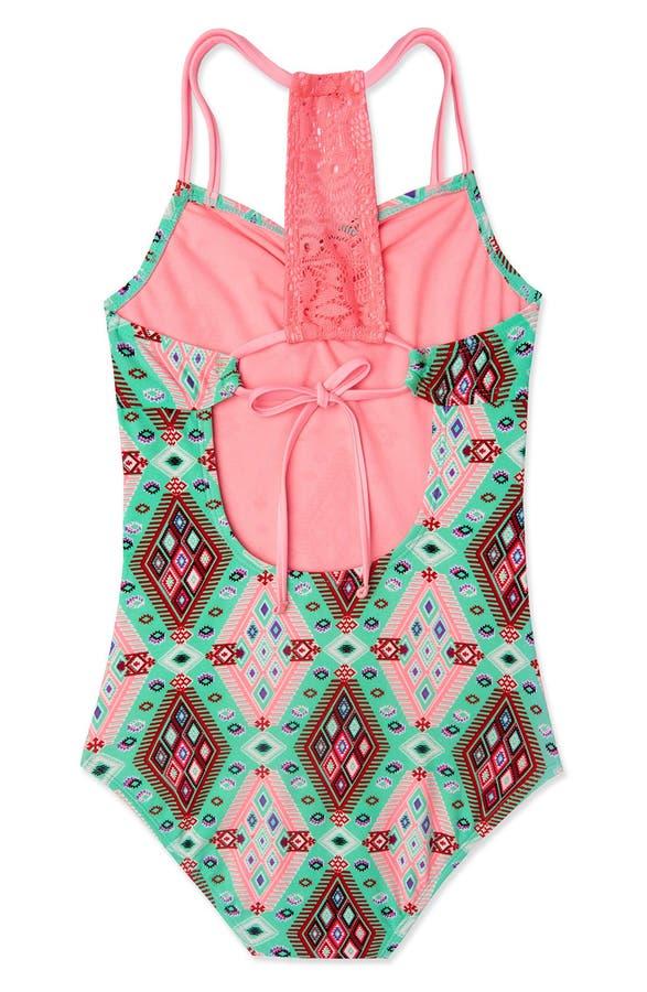 65941c6f1a Gossip Girl 'Aztec Harvest' One-Piece Swimsuit (Big Girls)   Nordstrom