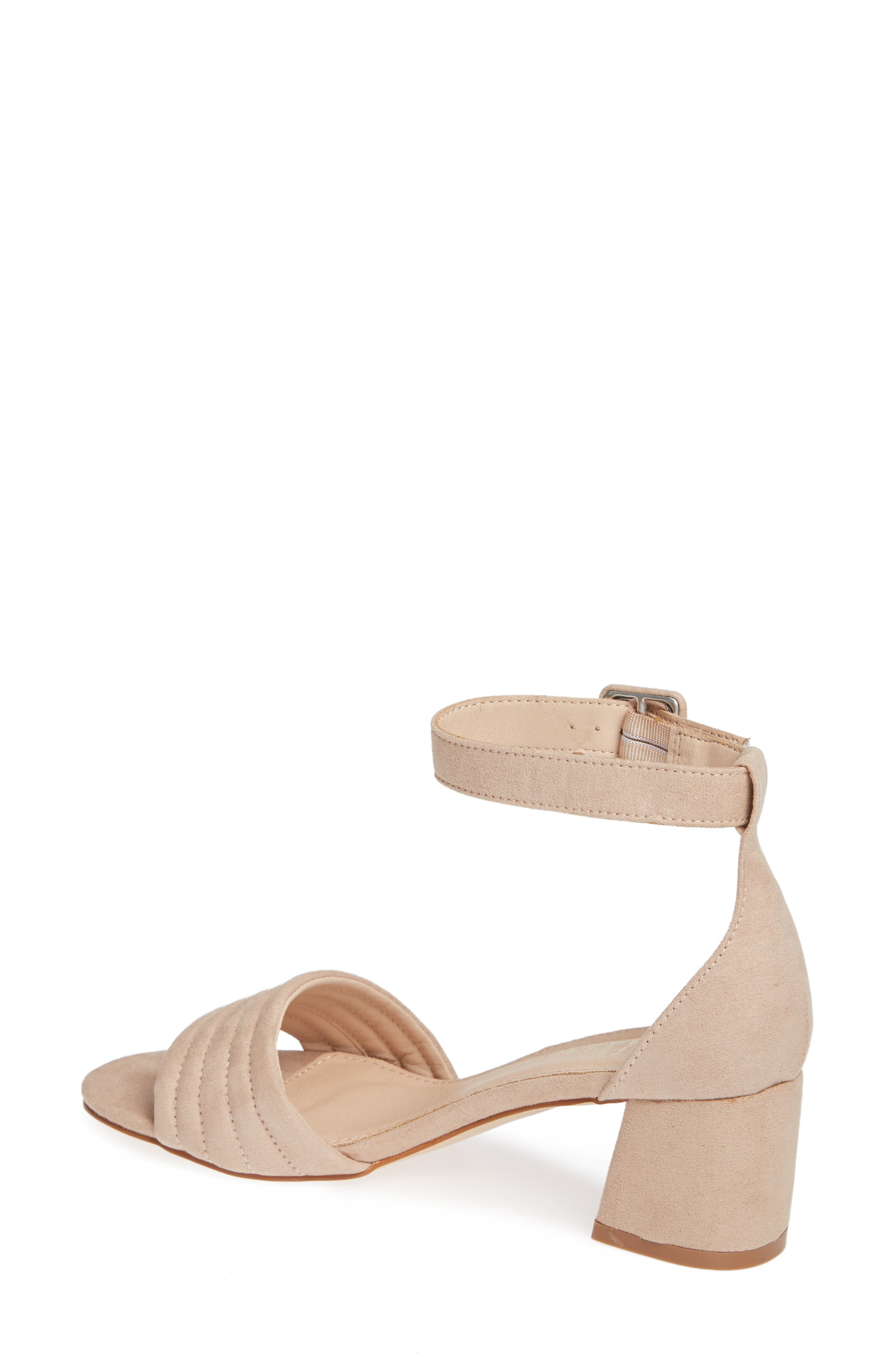 CALLISTO, Puffye Ankle Strap Sandal, Alternate thumbnail 2, color, BLUSH SUEDE SYNTHETIC