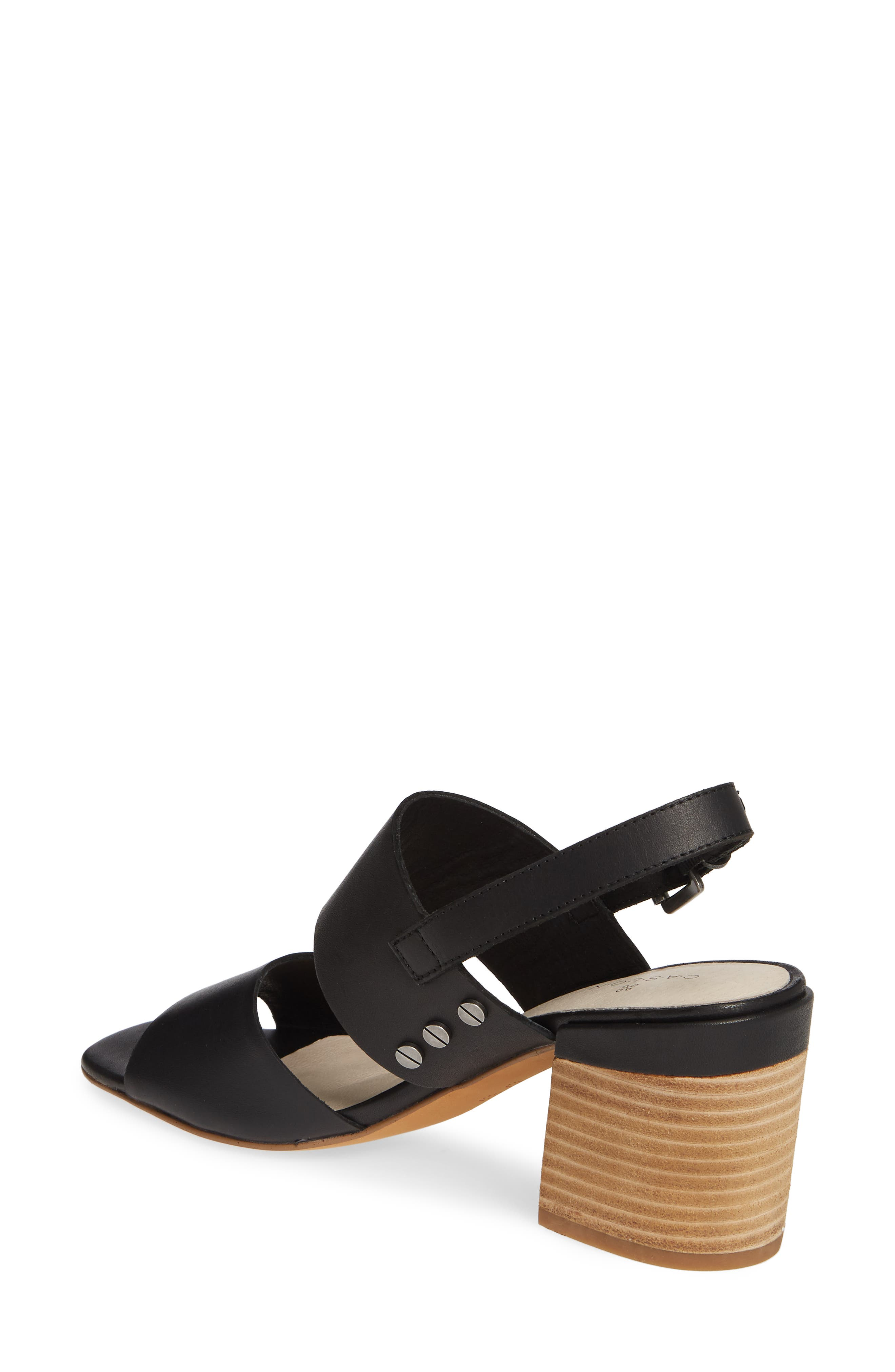CASLON<SUP>®</SUP>, Caslon Brayden Slingback Sandal, Alternate thumbnail 2, color, BLACK LEATHER