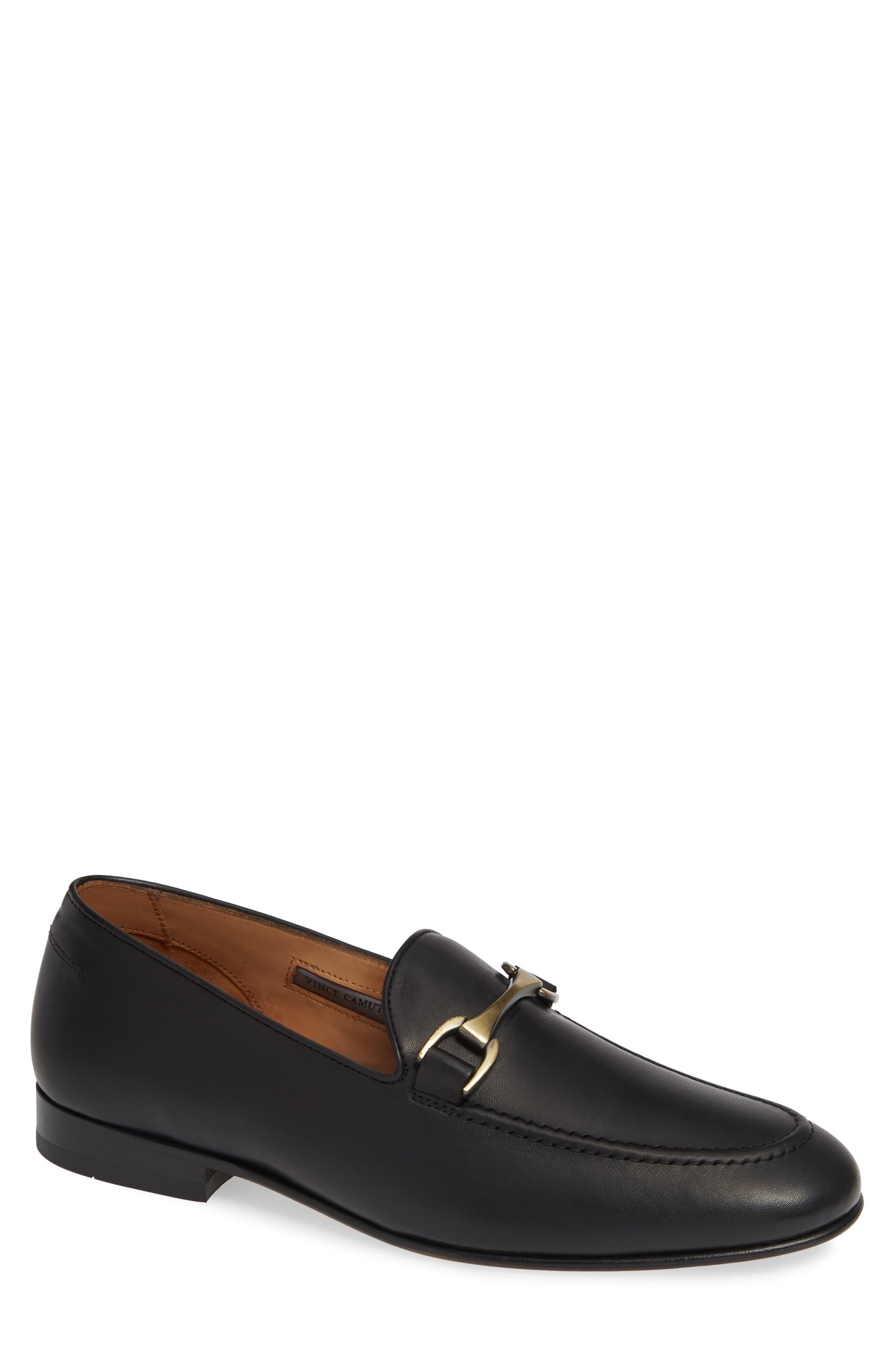 VINCE CAMUTO 'Borcelo' Bit Loafer, Main, color, BLACK/BLACK LEATHER