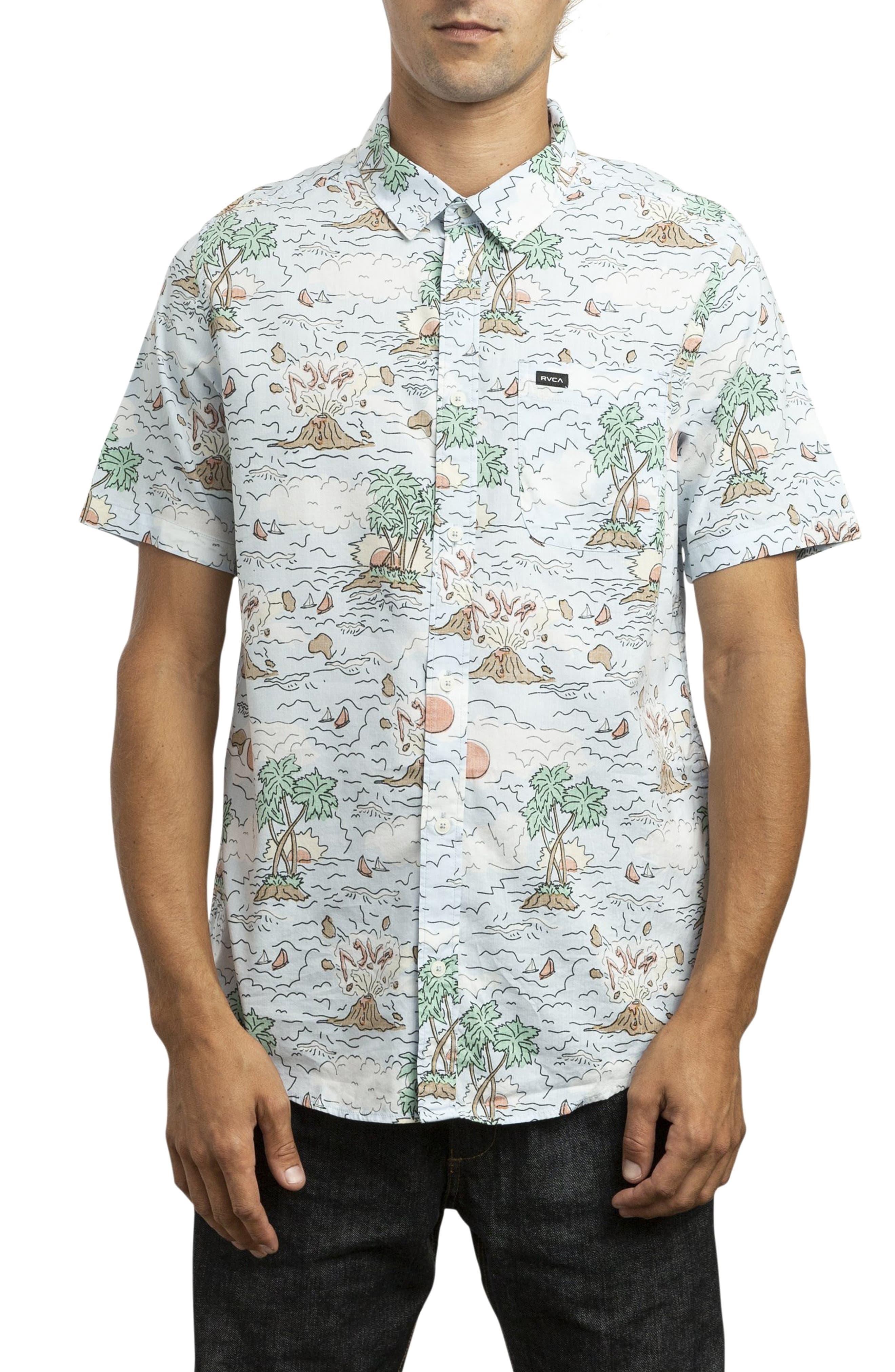 RVCA Ceddia Woven Shirt, Main, color, MULTI
