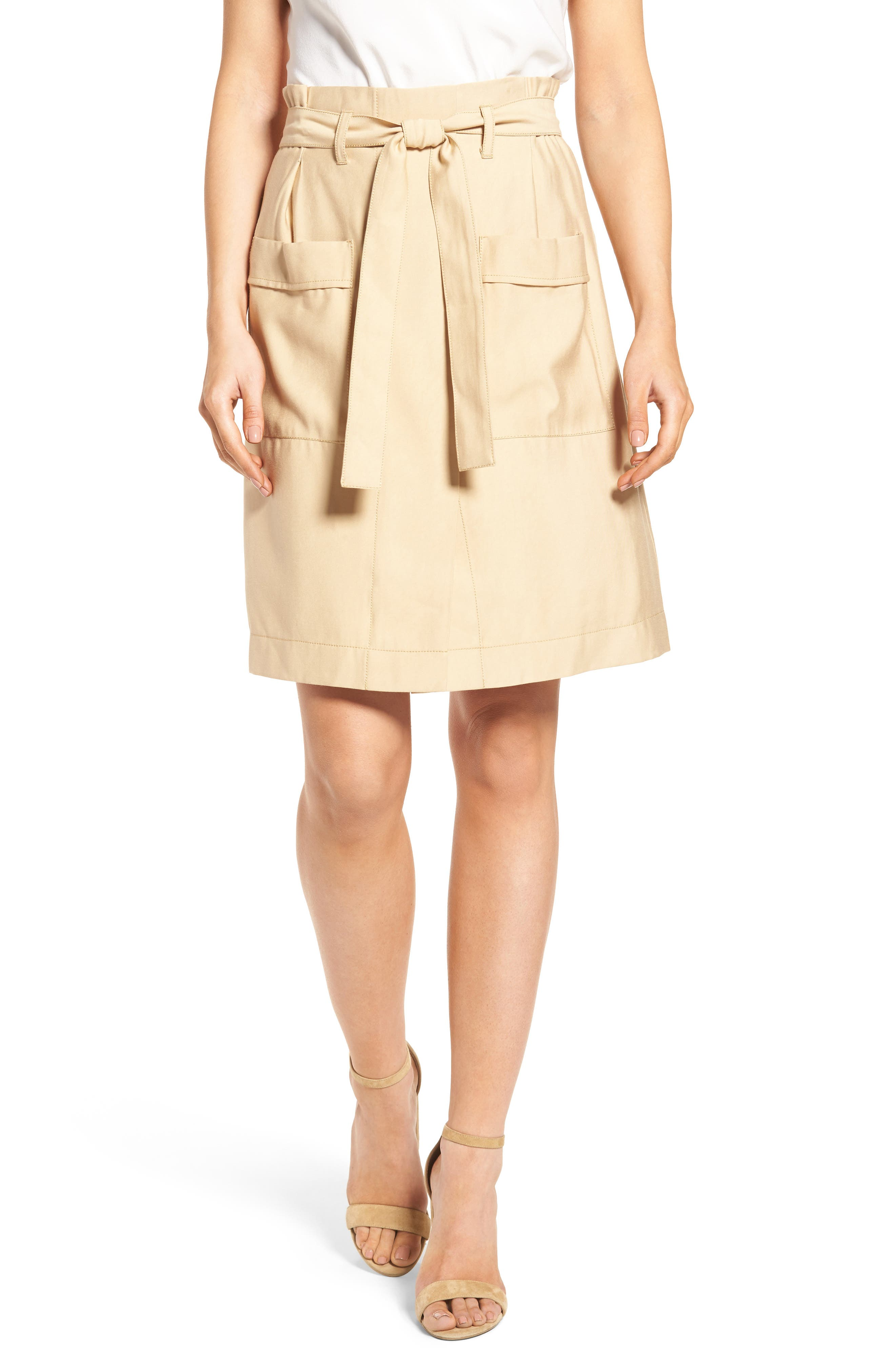 CATHERINE CATHERINE MALANDRINO, Tyra Belted Skirt, Main thumbnail 1, color, 283