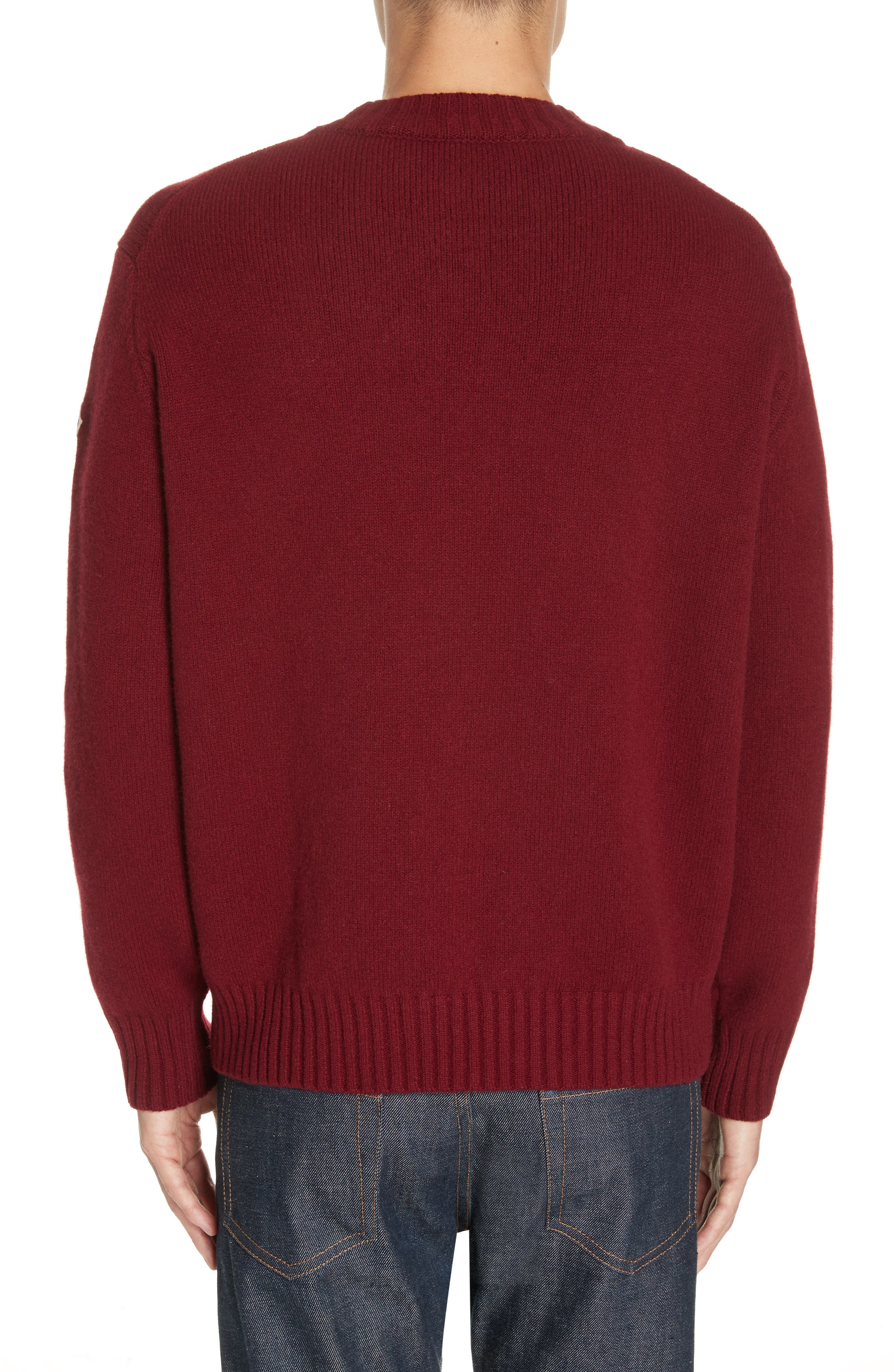 MONCLER, Maglione Cashmere Sweater, Alternate thumbnail 2, color, 601
