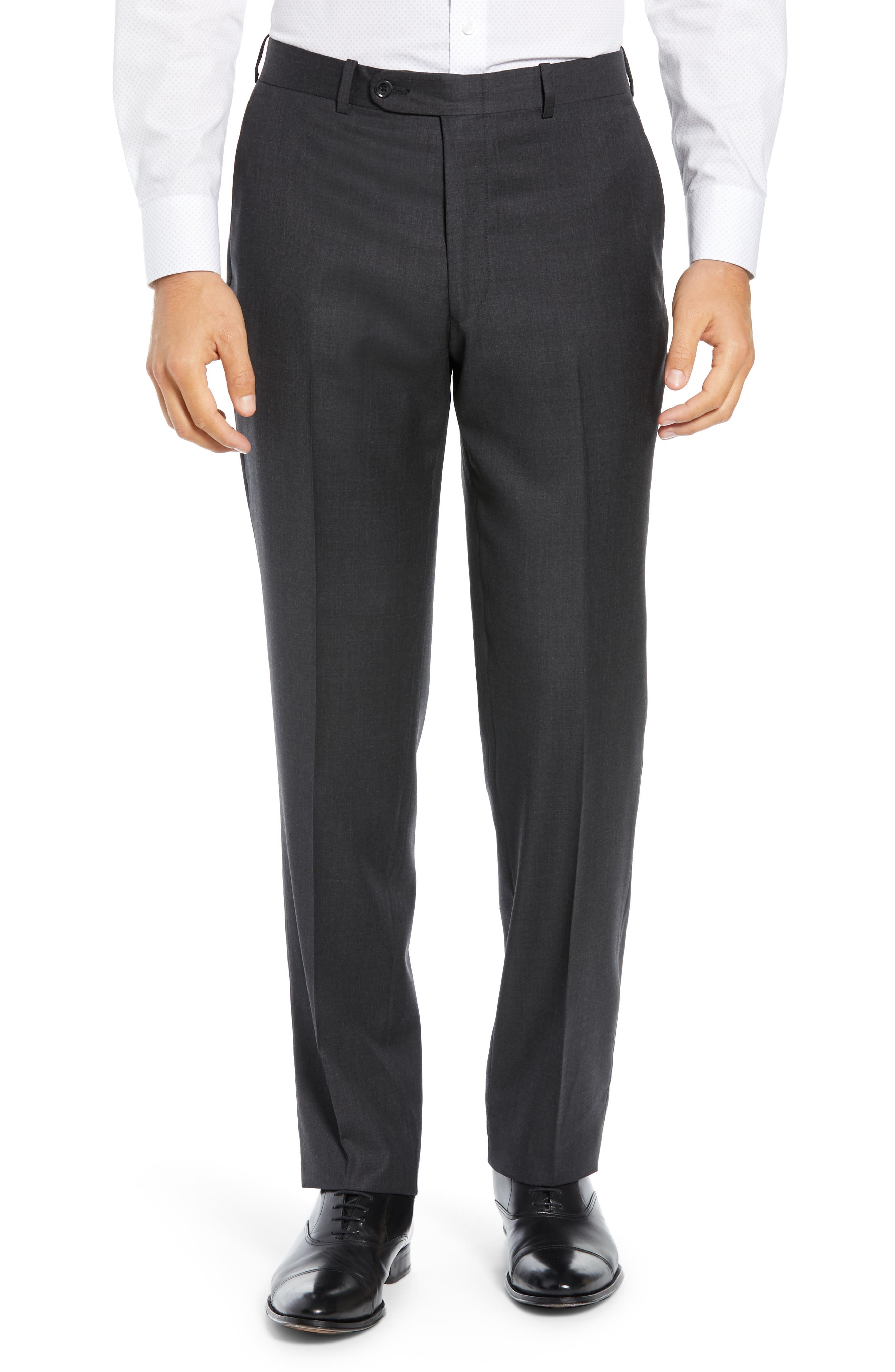 PETER MILLAR, Classic Fit Wool Suit, Alternate thumbnail 6, color, CHARCOAL