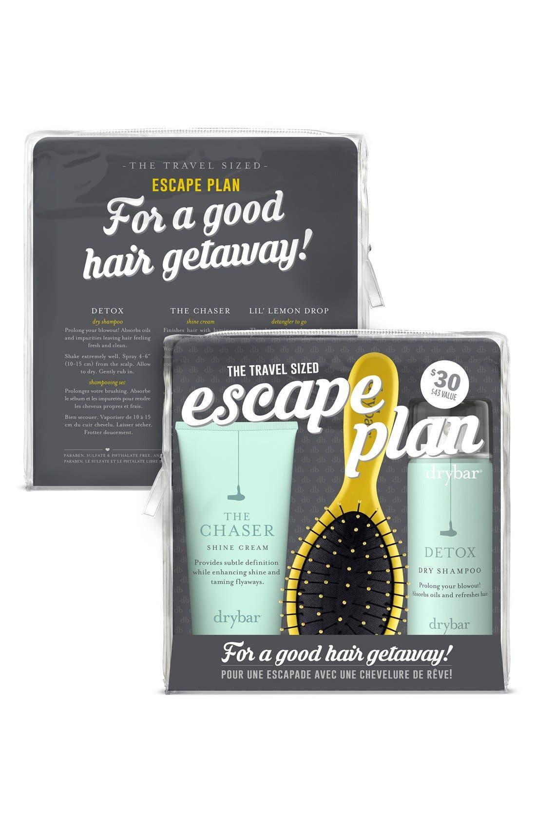 DRYBAR, 'Escape Plan' Travel Set, Alternate thumbnail 2, color, 000
