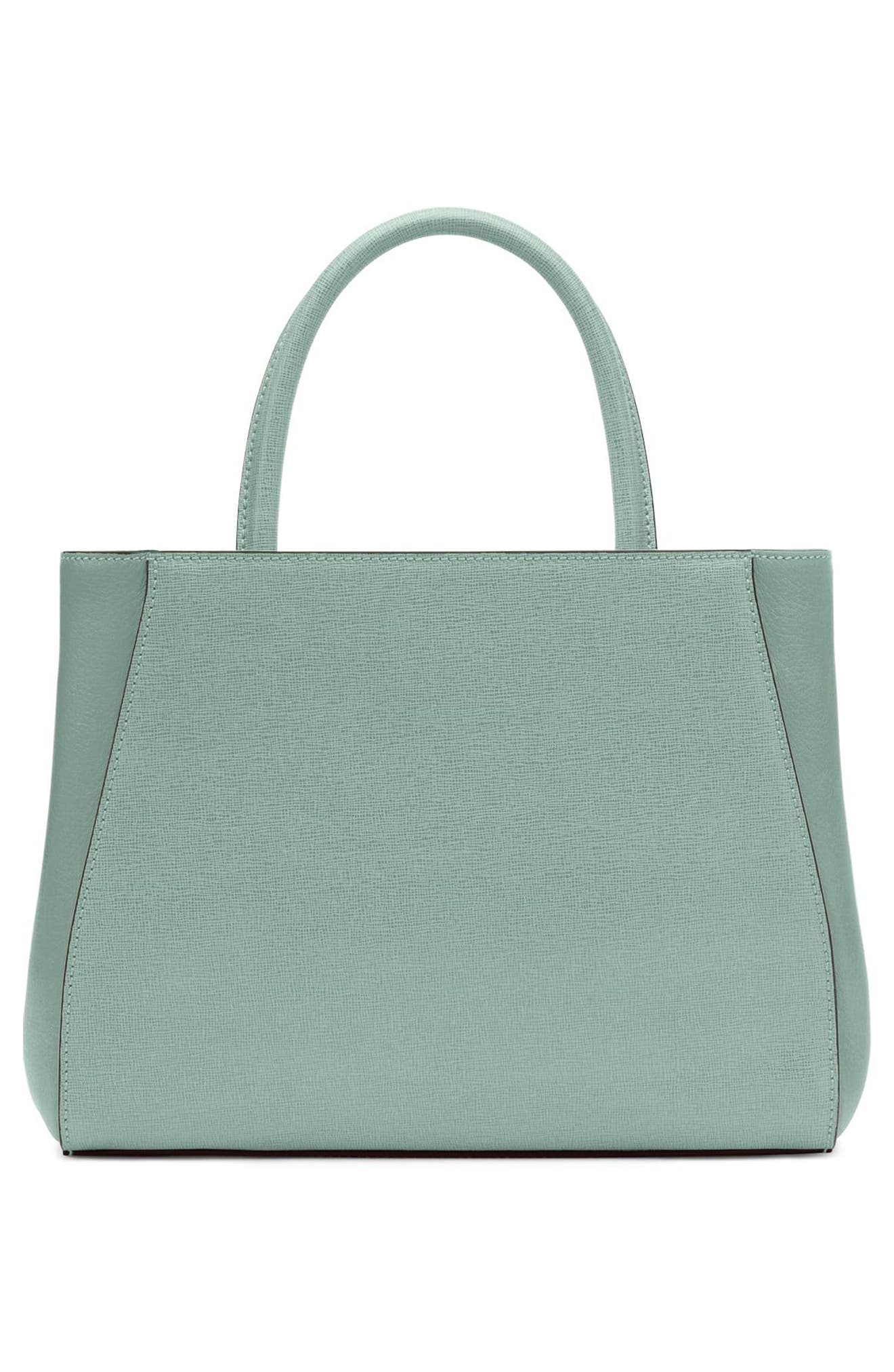 FENDI, 'Petite 2Jours Elite' Leather Shopper, Alternate thumbnail 4, color, 439