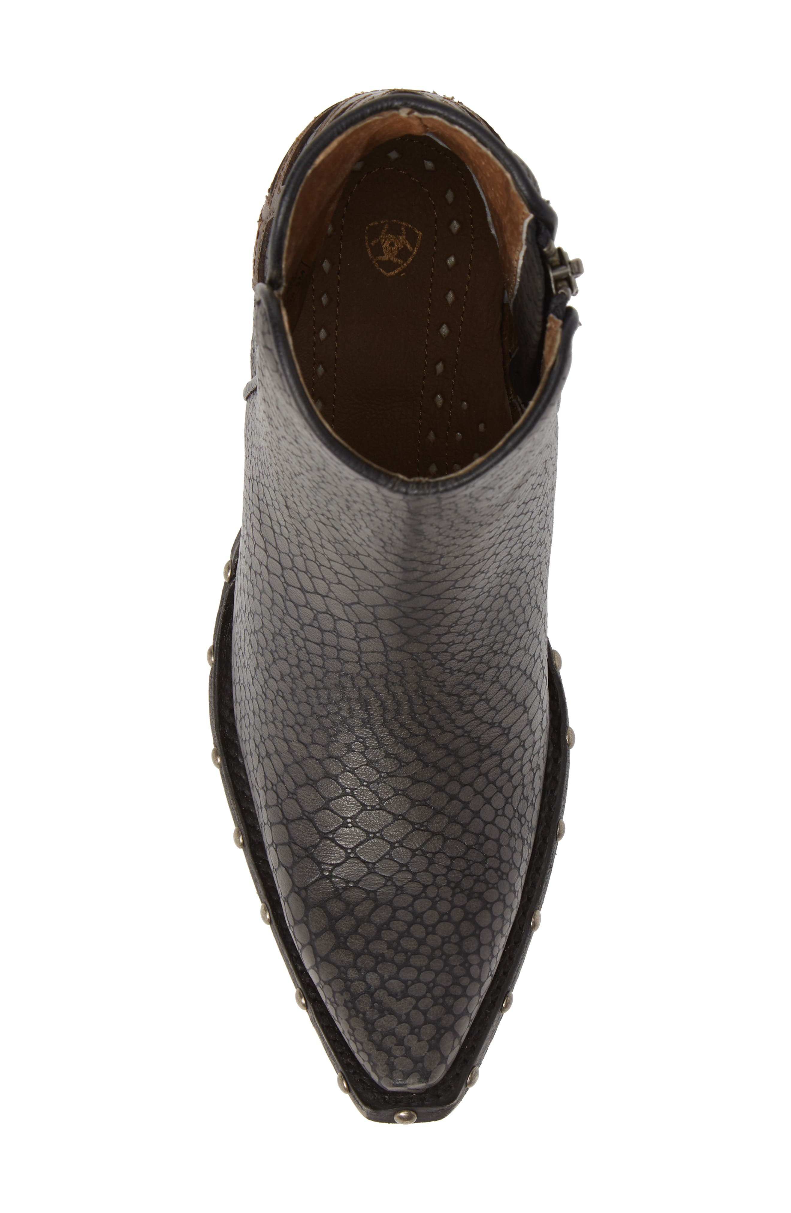 ARIAT, Fenix Western Bootie, Alternate thumbnail 5, color, CHIC GREY CRACKLED TAN LEATHER