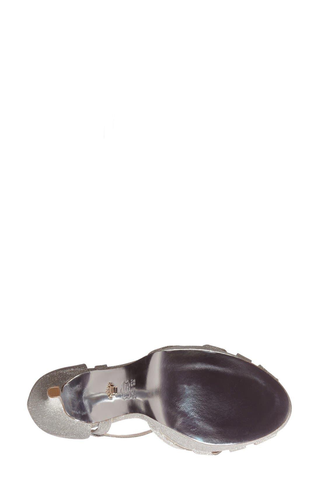 NINA, 'Senora' Glitter Satin Sandal, Alternate thumbnail 5, color, 042