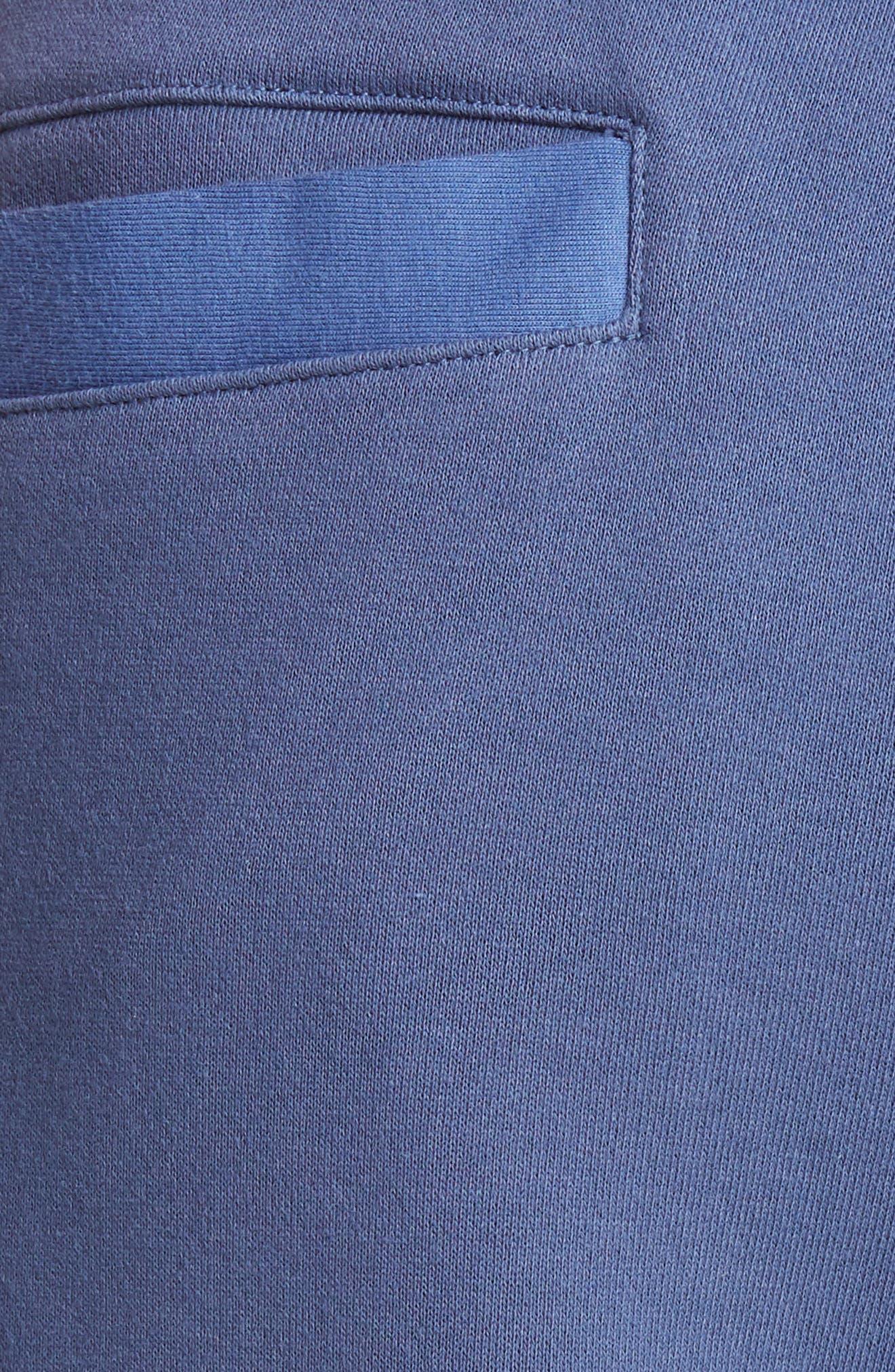 AMBUSH, Slit Knee Sweatpants, Alternate thumbnail 5, color, BLUE