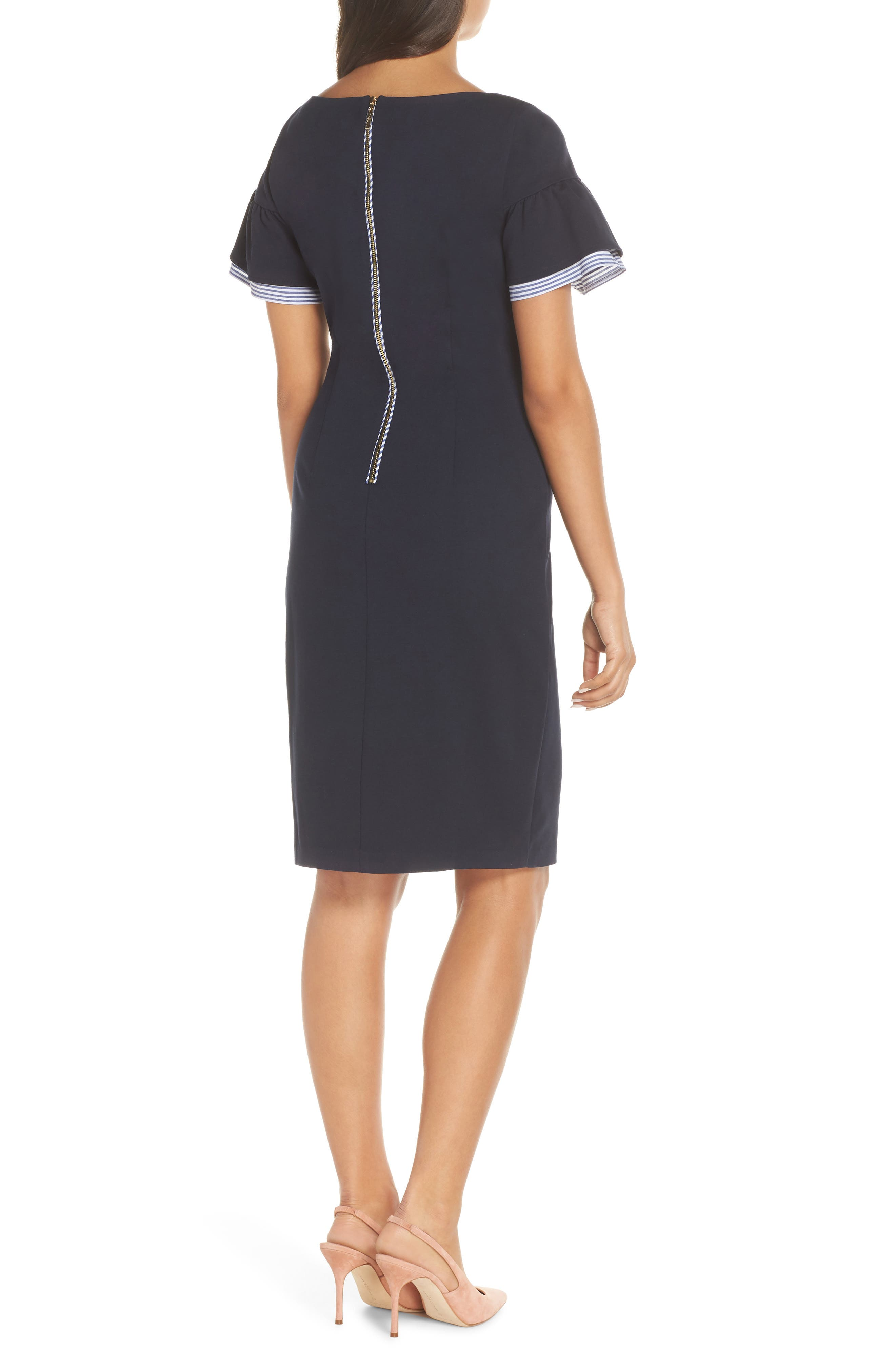 ELIZA J, Ruffle Detail Sheath Dress, Alternate thumbnail 2, color, 410