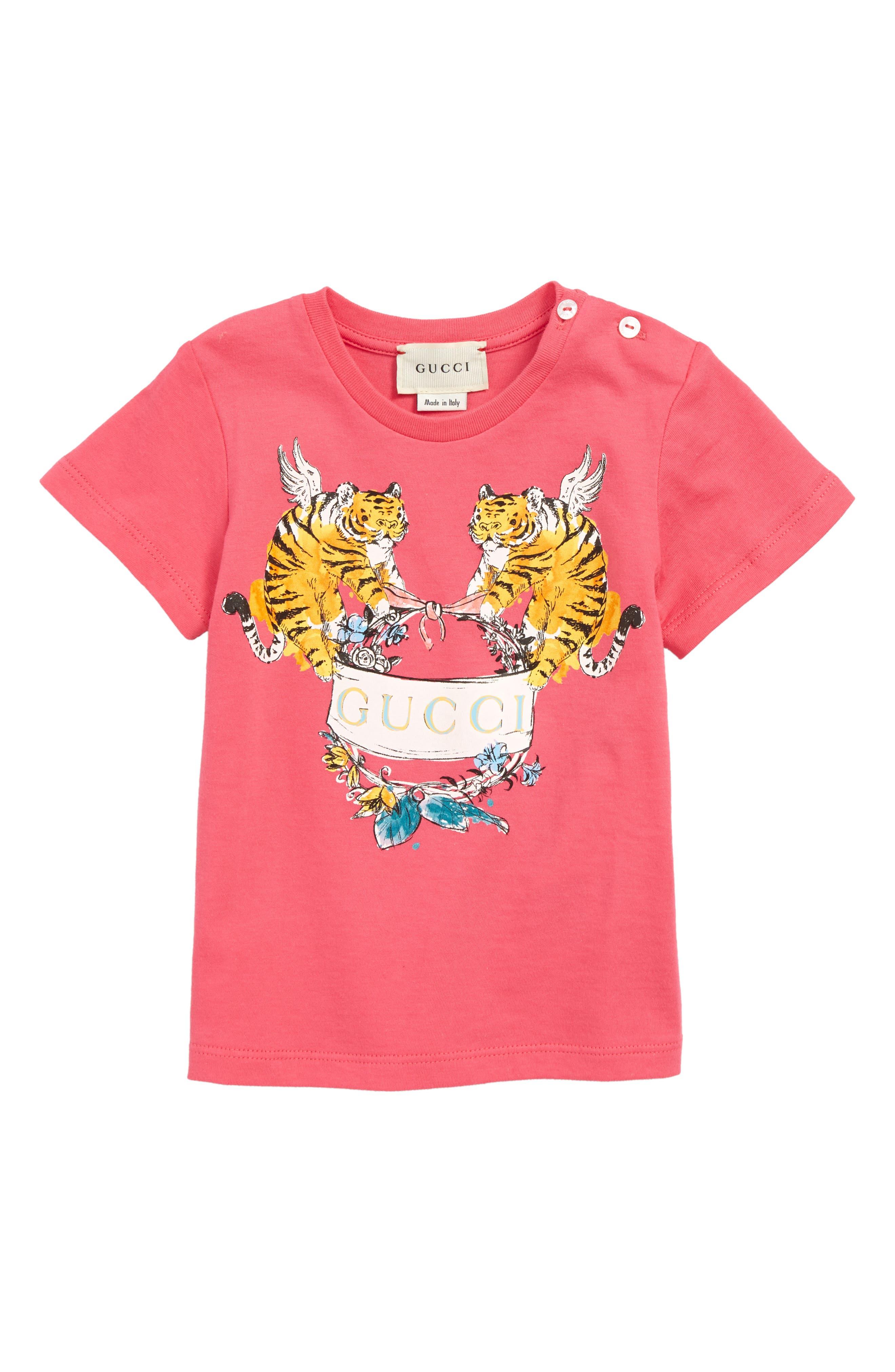 GUCCI, Graphic T-Shirt, Main thumbnail 1, color, BABA