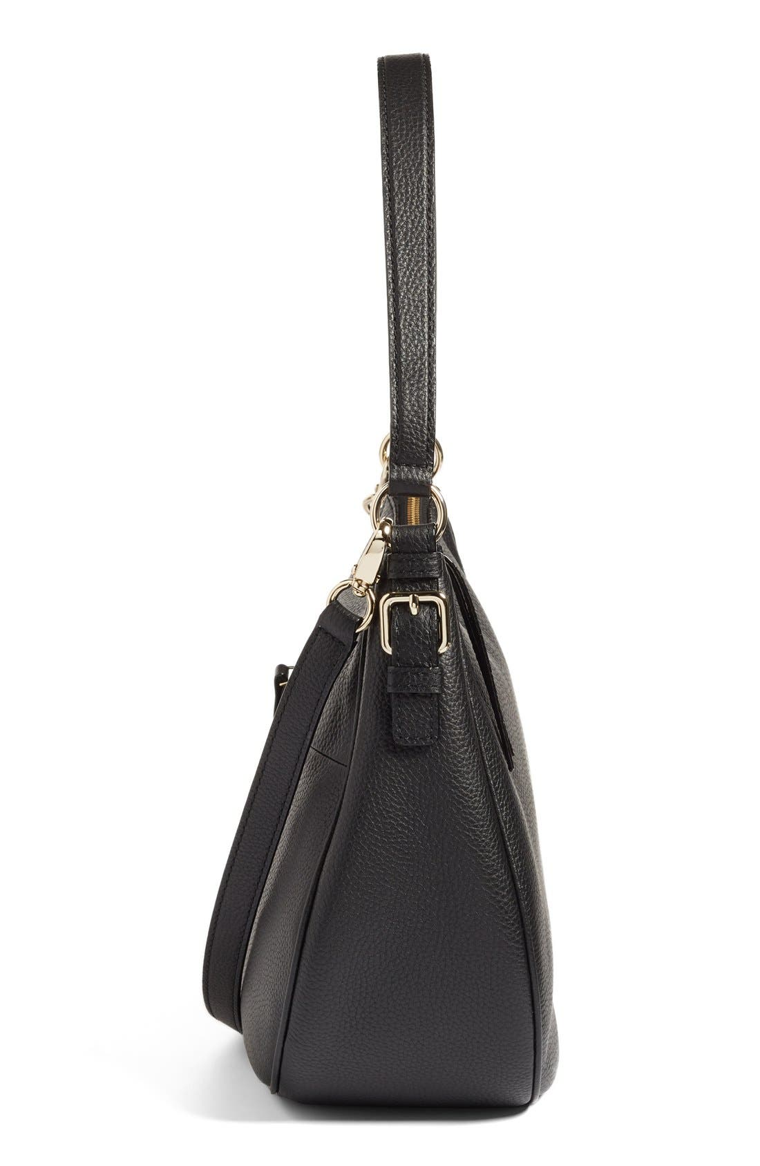 KATE SPADE NEW YORK, cobble hill mylie leather hobo, Alternate thumbnail 2, color, 001