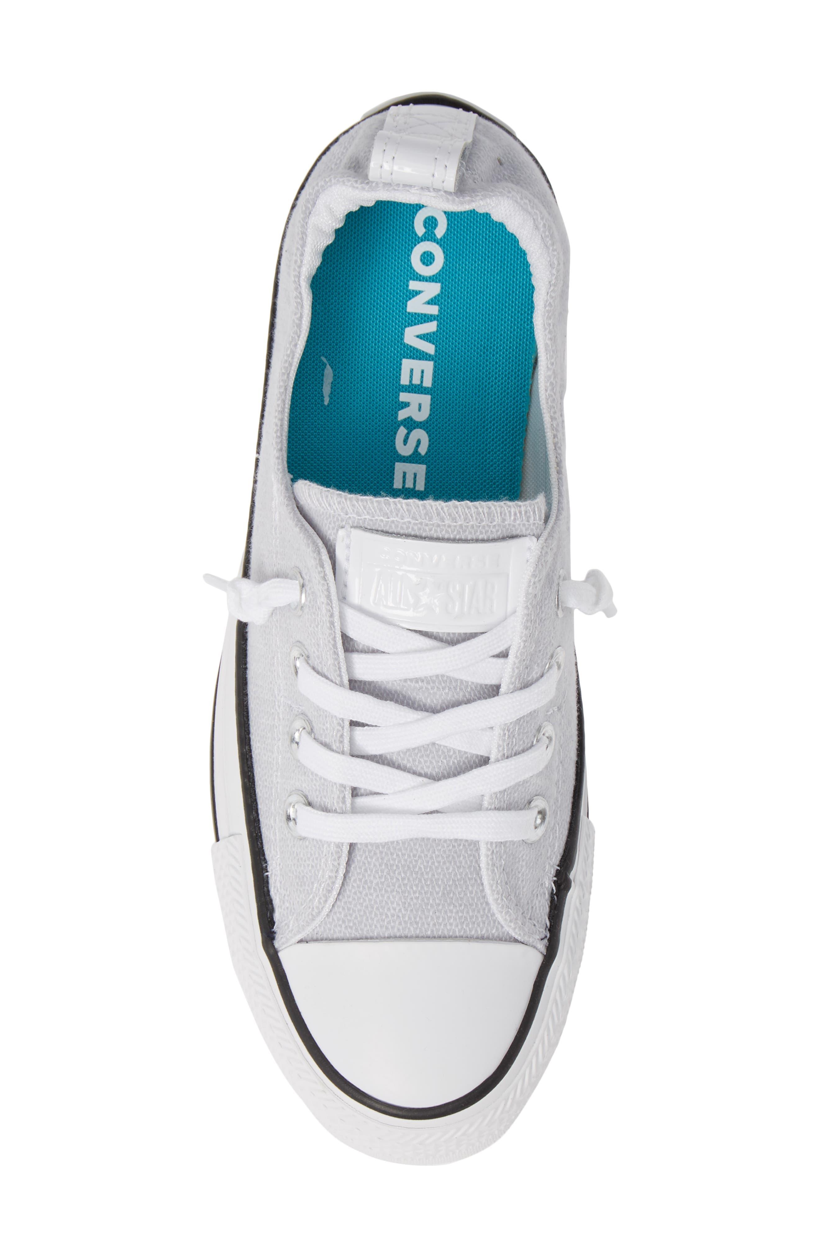 CONVERSE, Chuck Taylor<sup>®</sup> 'Shoreline' Sneaker, Alternate thumbnail 5, color, WHITE