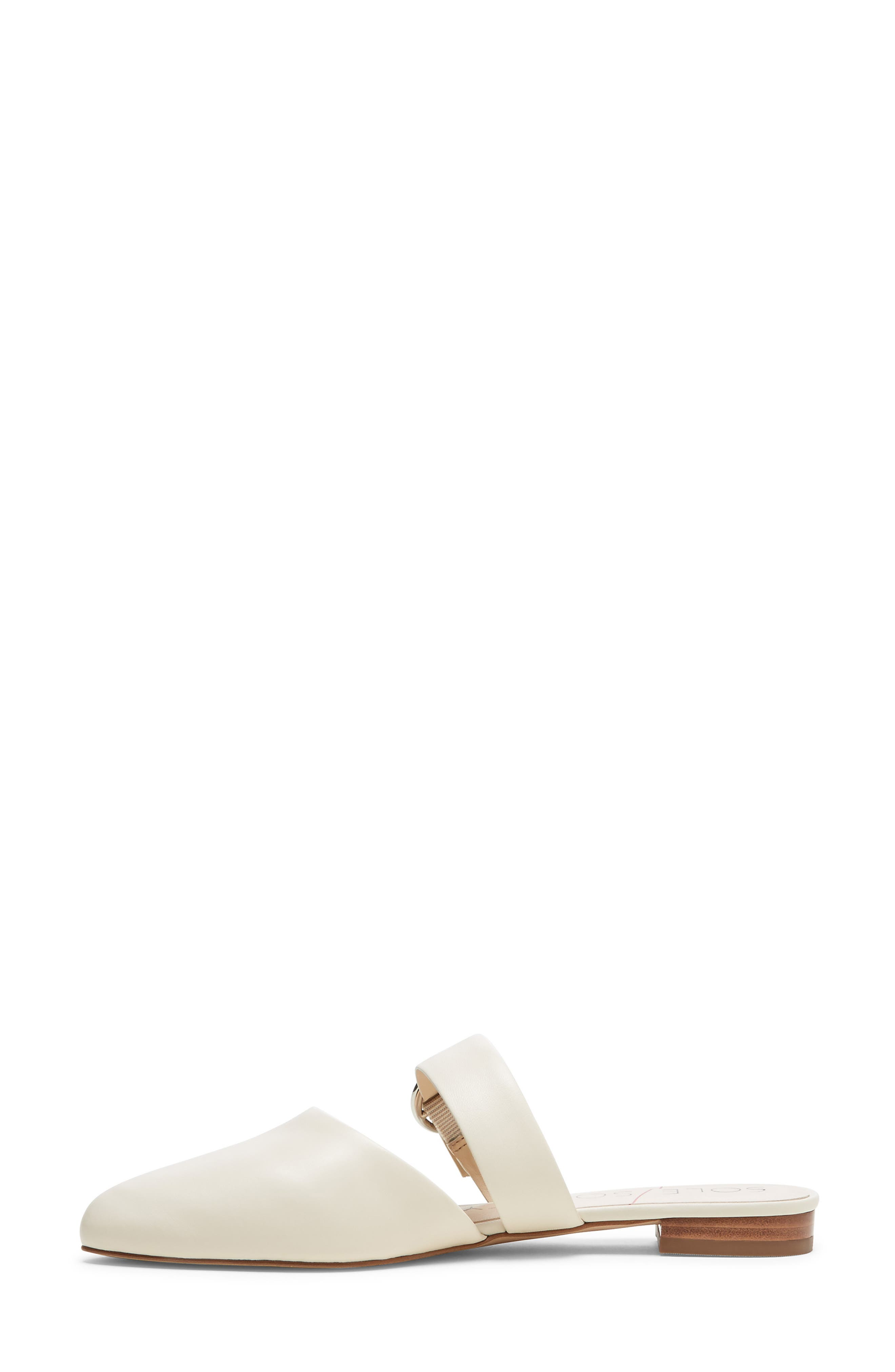 SOLE SOCIETY, Pravar Strappy Pointy Toe Mule, Alternate thumbnail 5, color, CREAM LEATHER