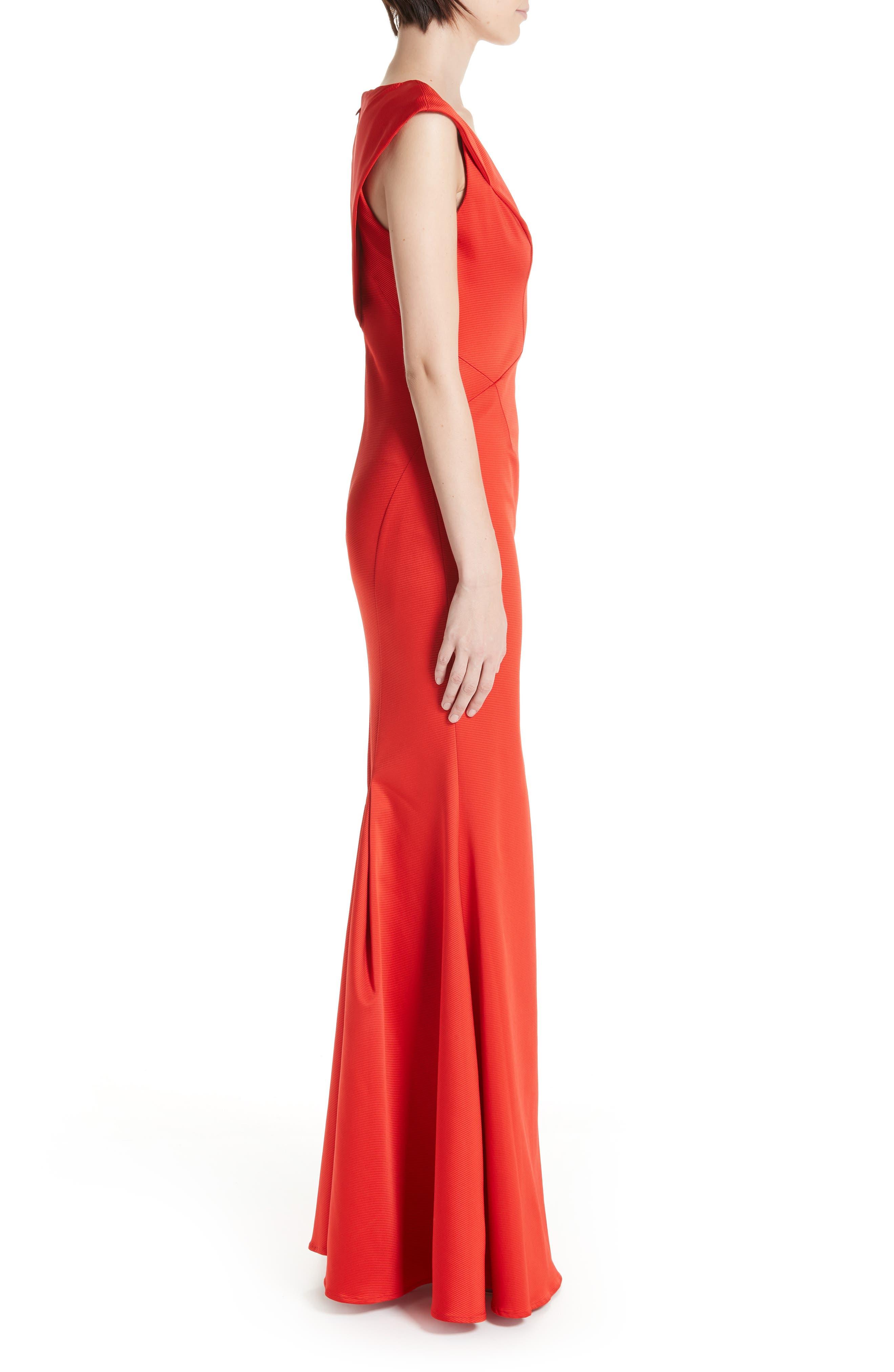 ZAC ZAC POSEN, Nina Trumpet Gown, Alternate thumbnail 4, color, RED