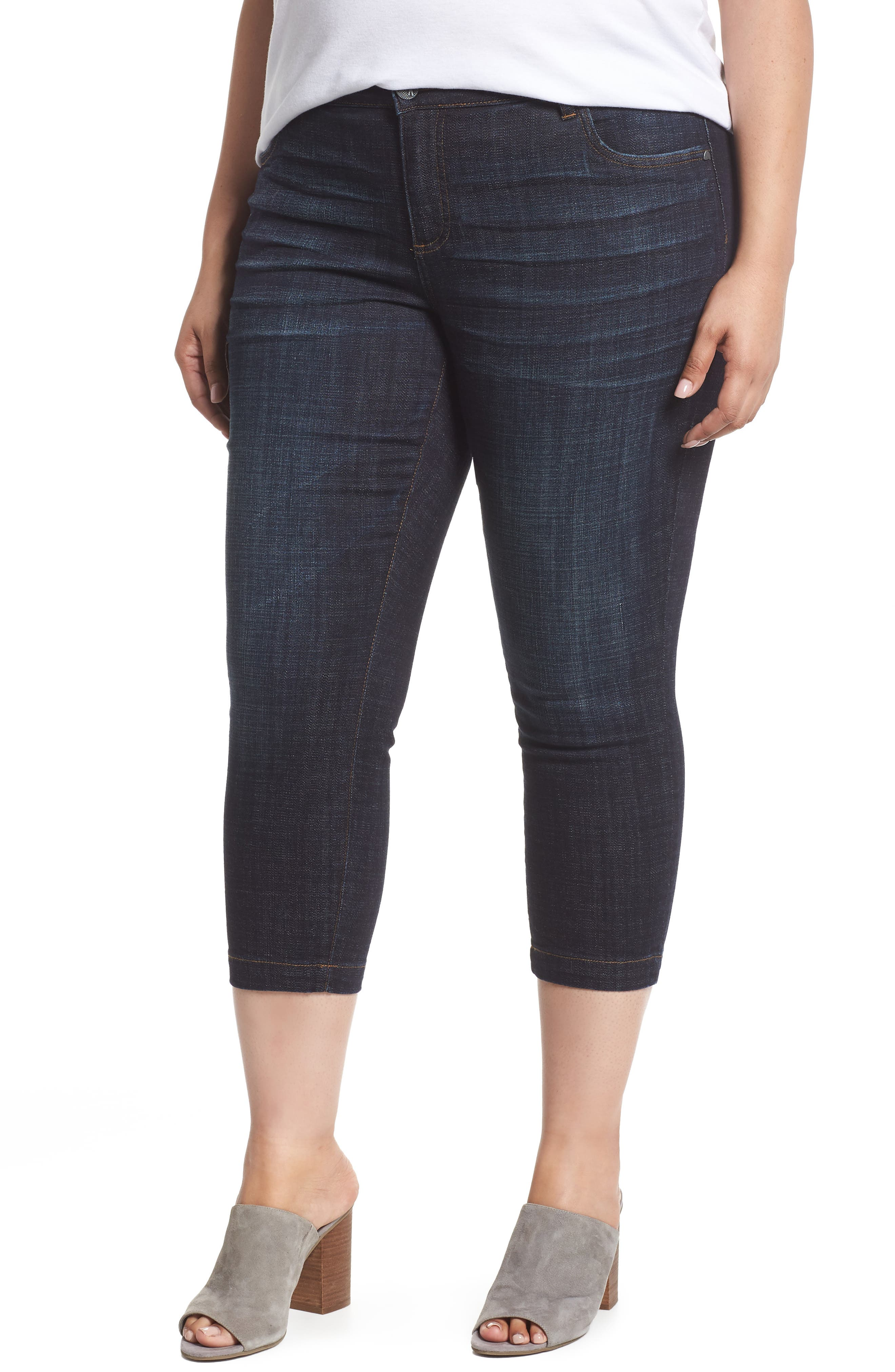 KUT FROM THE KLOTH, Lauren Crop Jeans, Main thumbnail 1, color, ACKNOWLEDGING