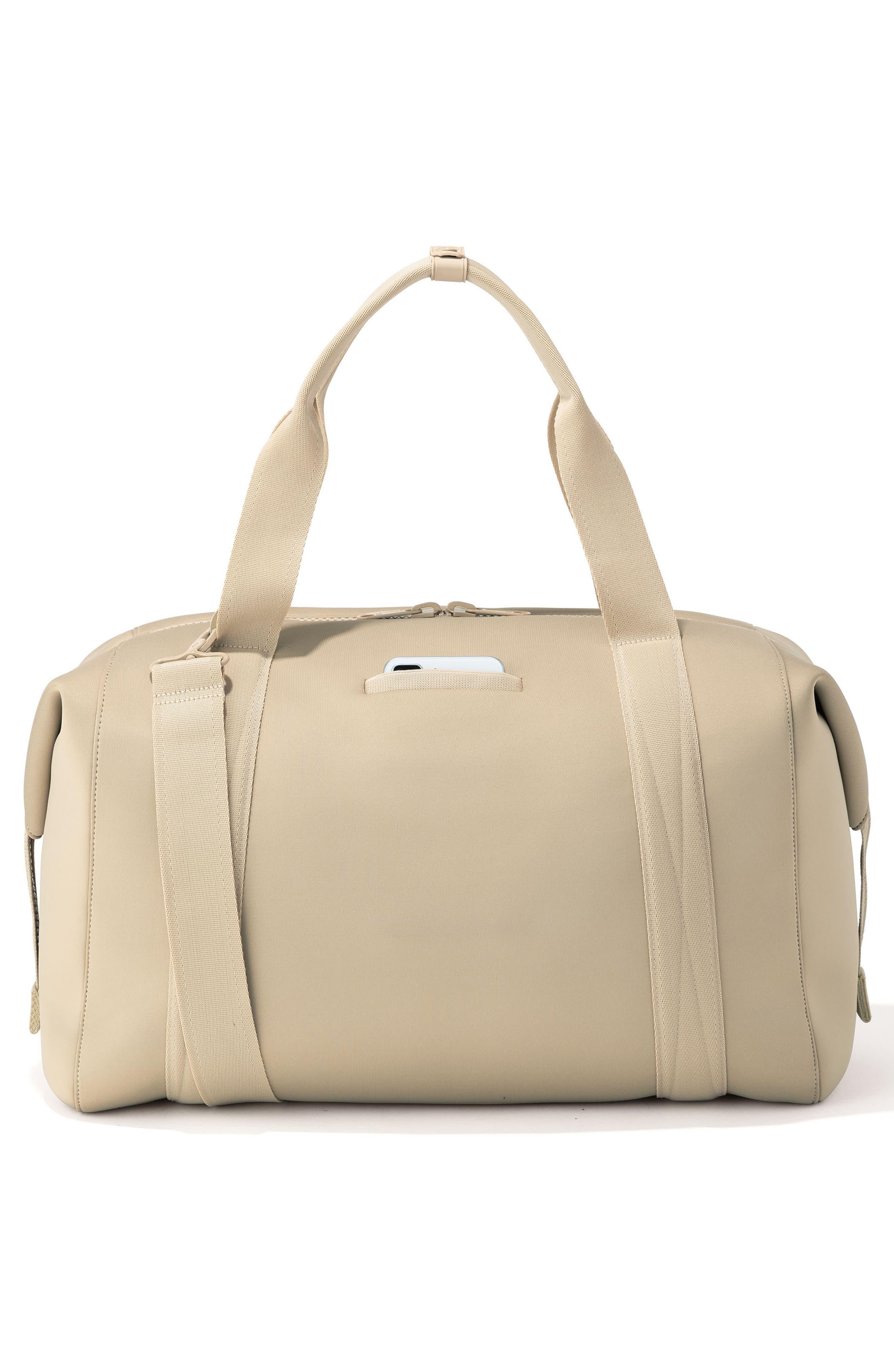 DAGNE DOVER, XL Landon Carryall Duffel Bag, Alternate thumbnail 2, color, ALMOND LATTE