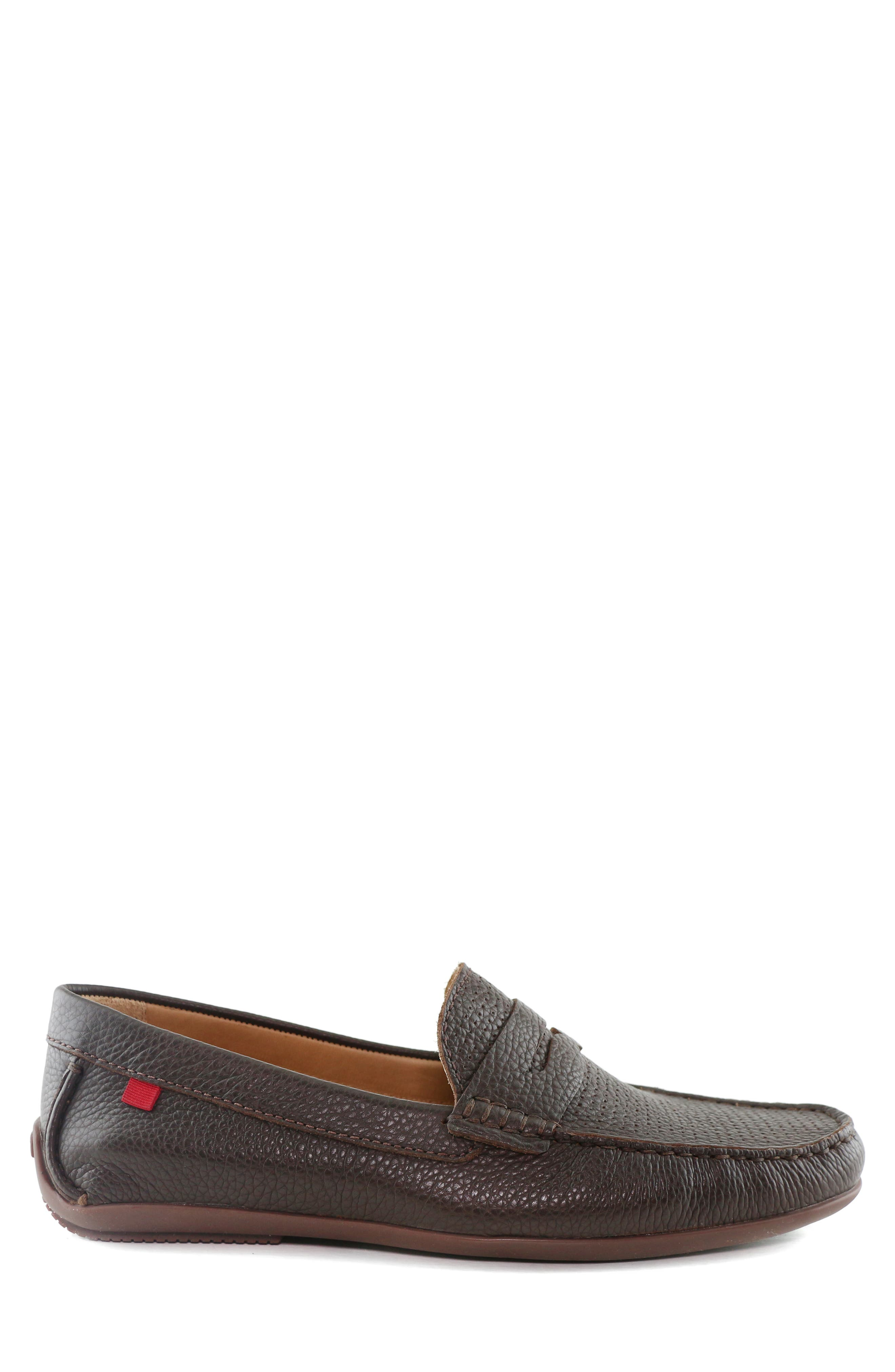 MARC JOSEPH NEW YORK, 'Union Street' Penny Loafer, Alternate thumbnail 3, color, BROWN GRAINY LEATHER