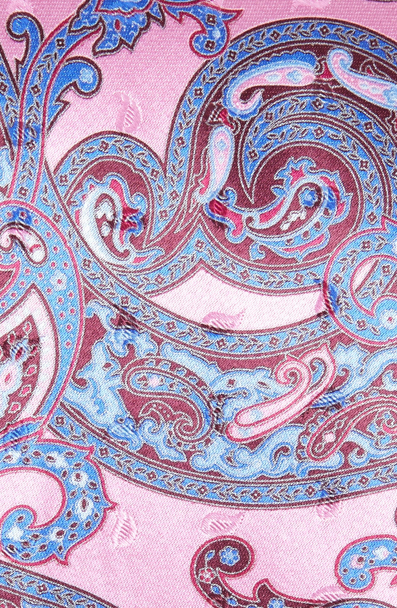 ERMENEGILDO ZEGNA, Paisley Silk Tie, Alternate thumbnail 2, color, PINK