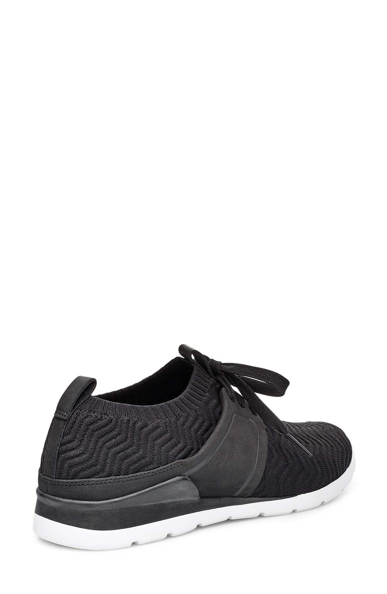 UGG<SUP>®</SUP>, Willows Sneaker, Alternate thumbnail 2, color, BLACK