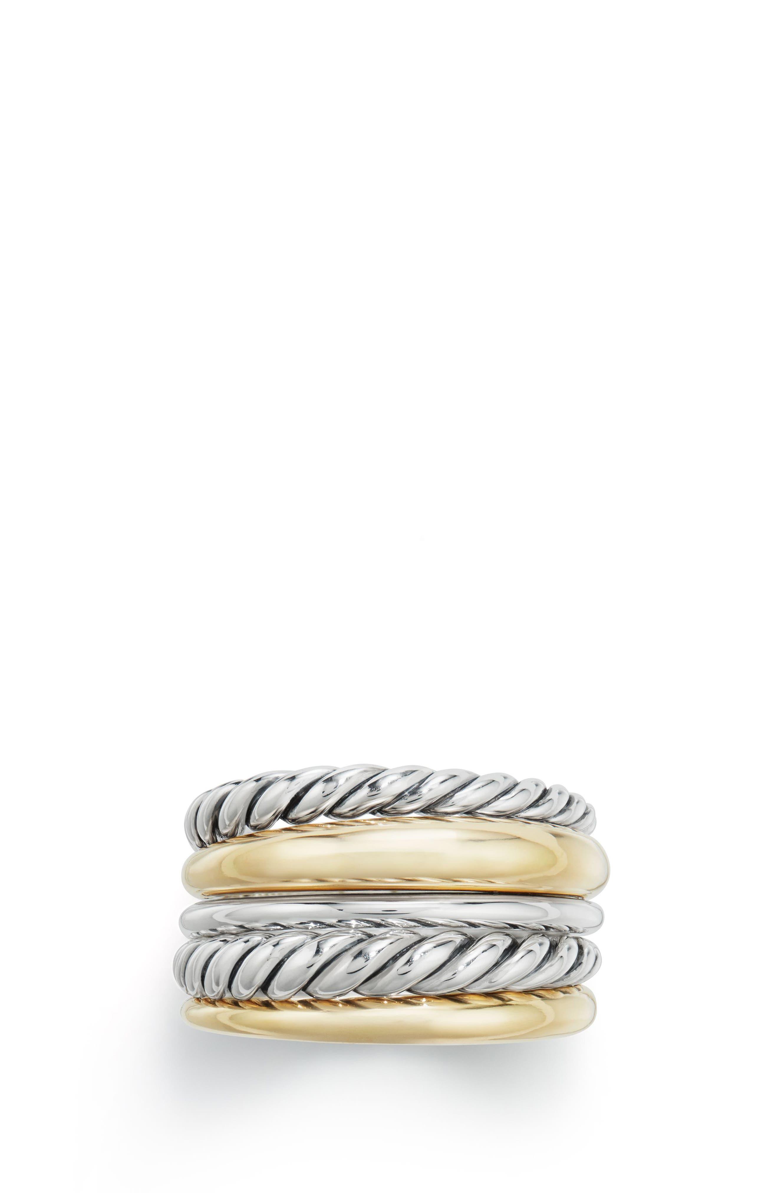 DAVID YURMAN, Pure Form<sup>®</sup> Wide Ring, Main thumbnail 1, color, SILVER