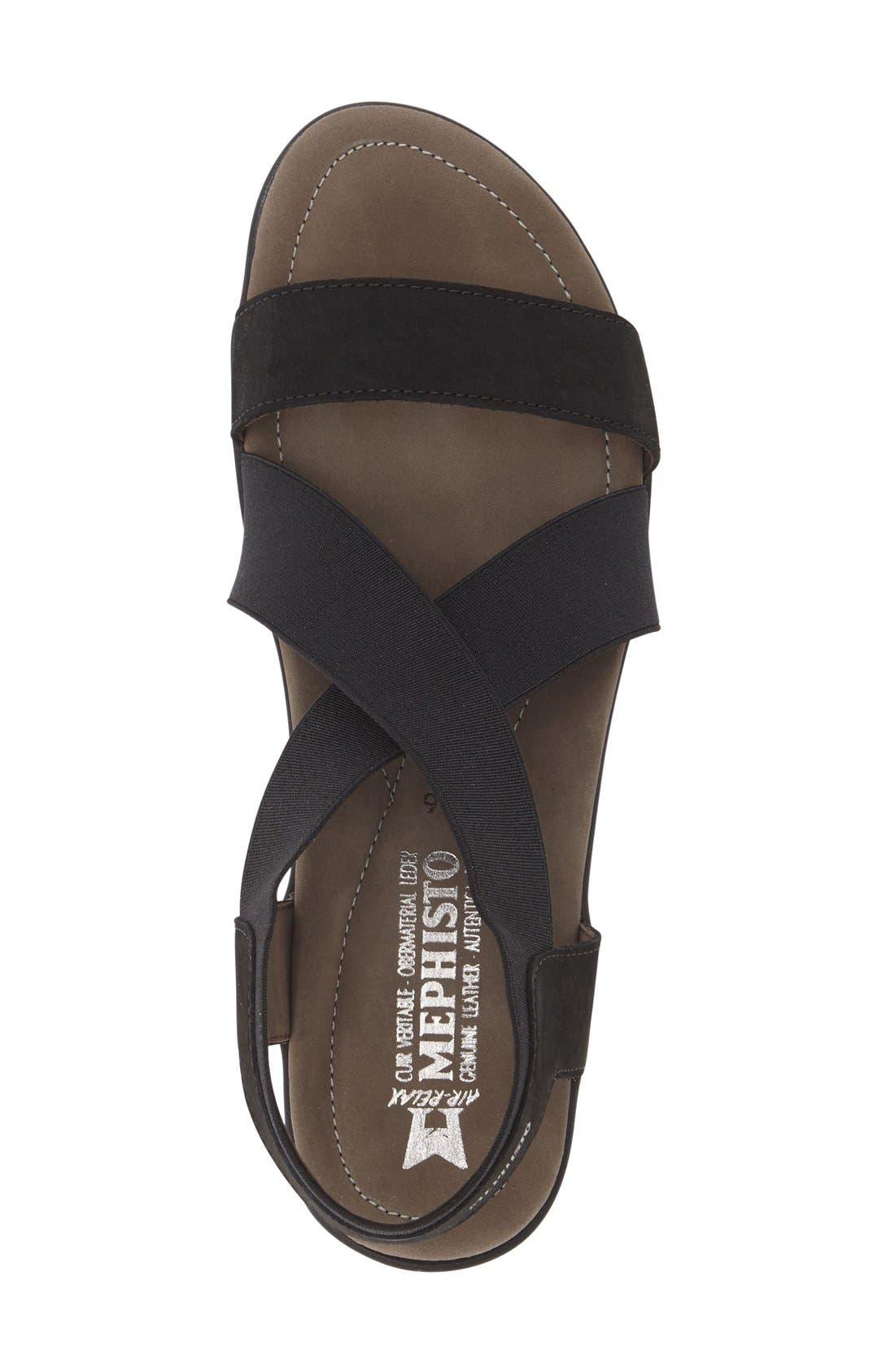 MEPHISTO, 'Pastora' Sandal, Alternate thumbnail 3, color, BLACK BUCKSOFT