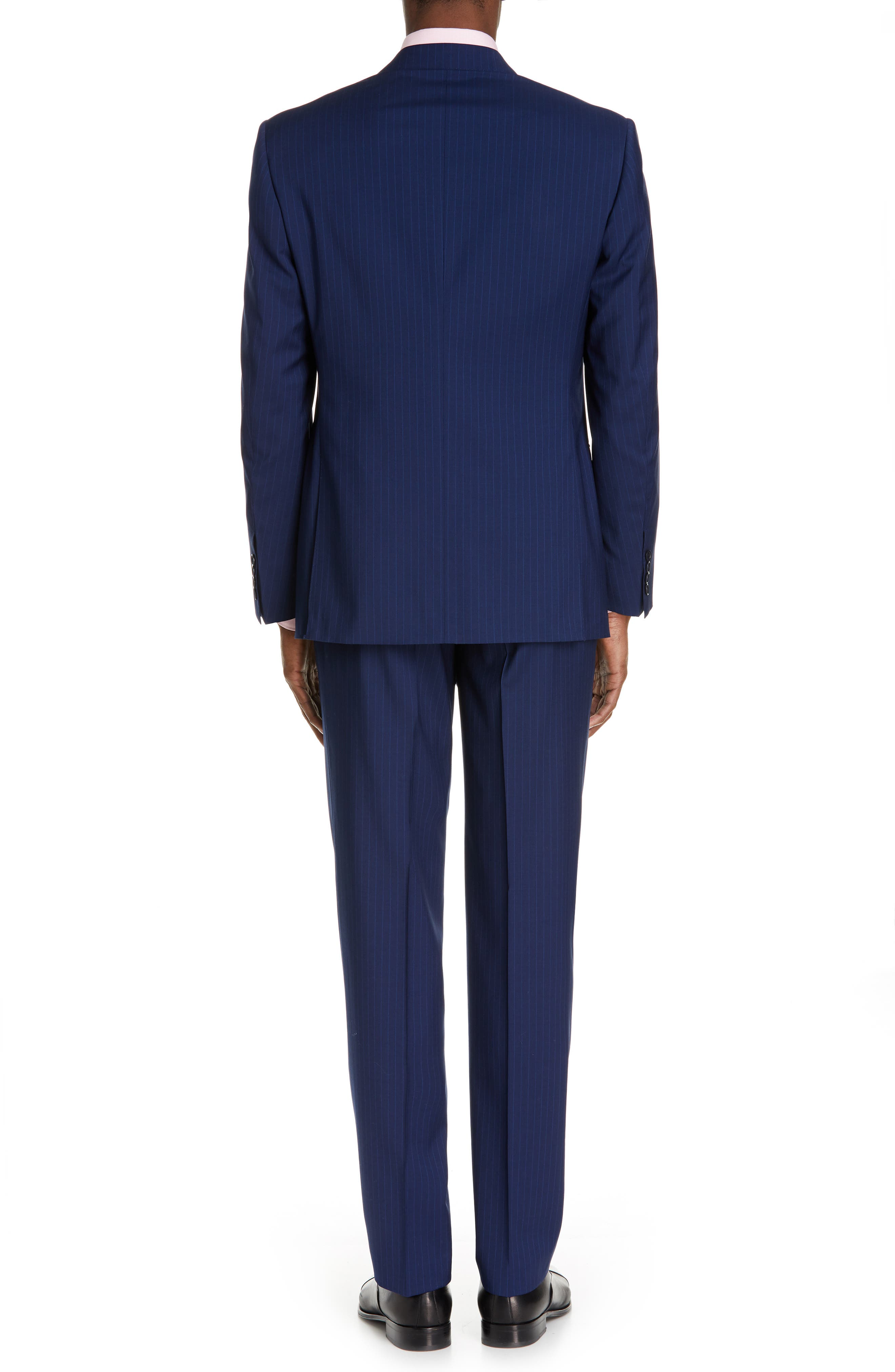 CANALI, Sienna Classic Fit Stripe Wool Suit, Alternate thumbnail 2, color, BLUE