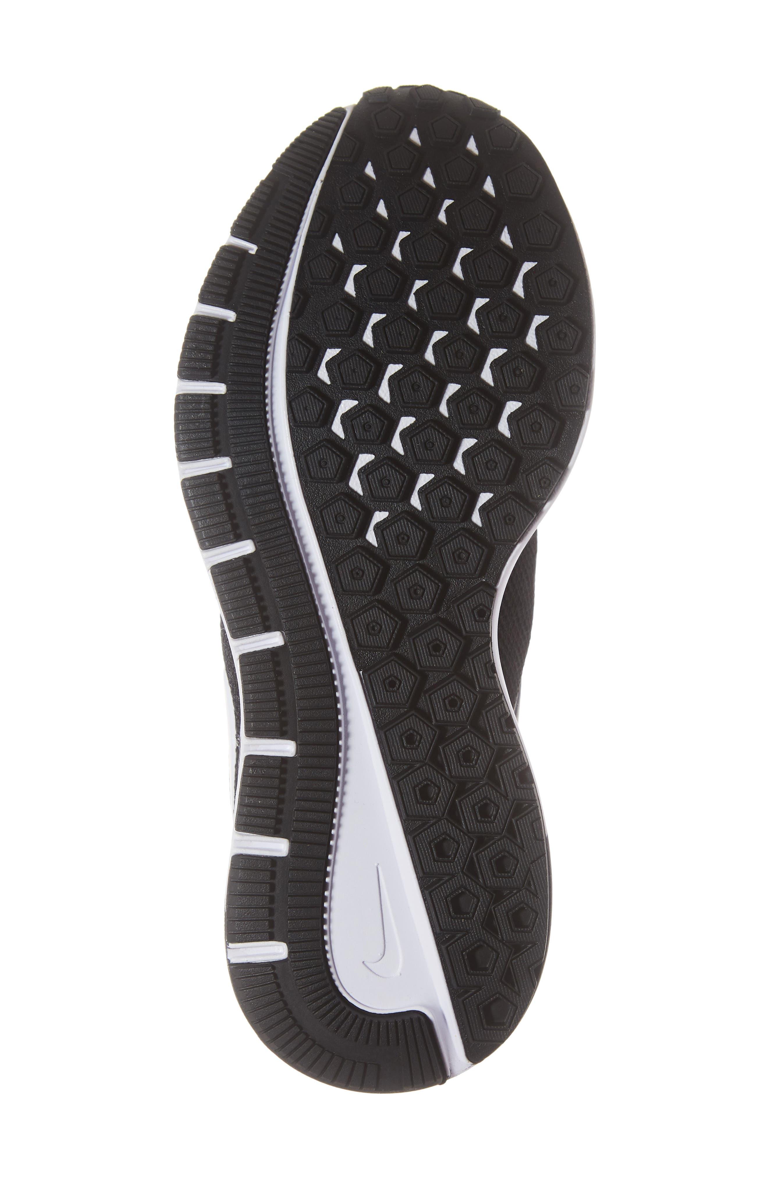 NIKE, Air Zoom Structure 22 Sneaker, Alternate thumbnail 6, color, BLACK/ WHITE-GRIDIRON