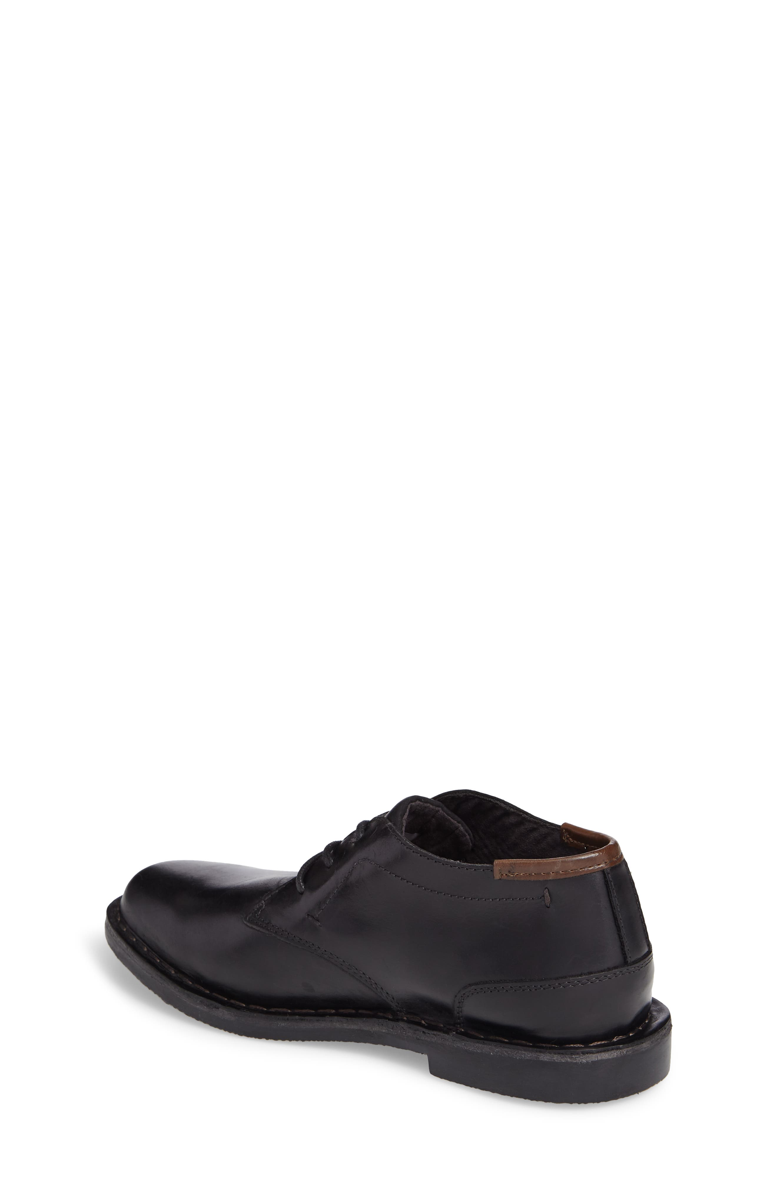 KENNETH COLE NEW YORK, Real Deal Chukka Boot, Alternate thumbnail 2, color, BLACK LEATHER